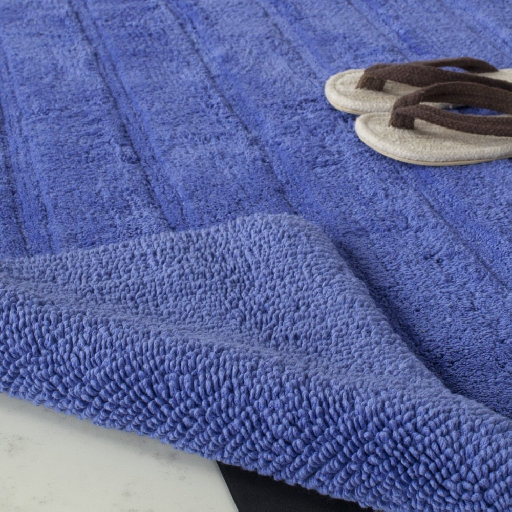 Safavieh Indigo Spa Stripe Reversible Bath Mats (27 x 45) (Set of 2 ...
