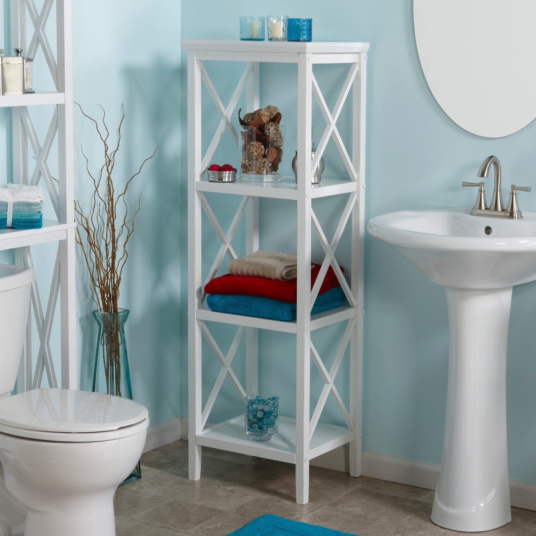 Shop RiverRidge Home X-frame Bathroom Towel Tower - Free Shipping ...