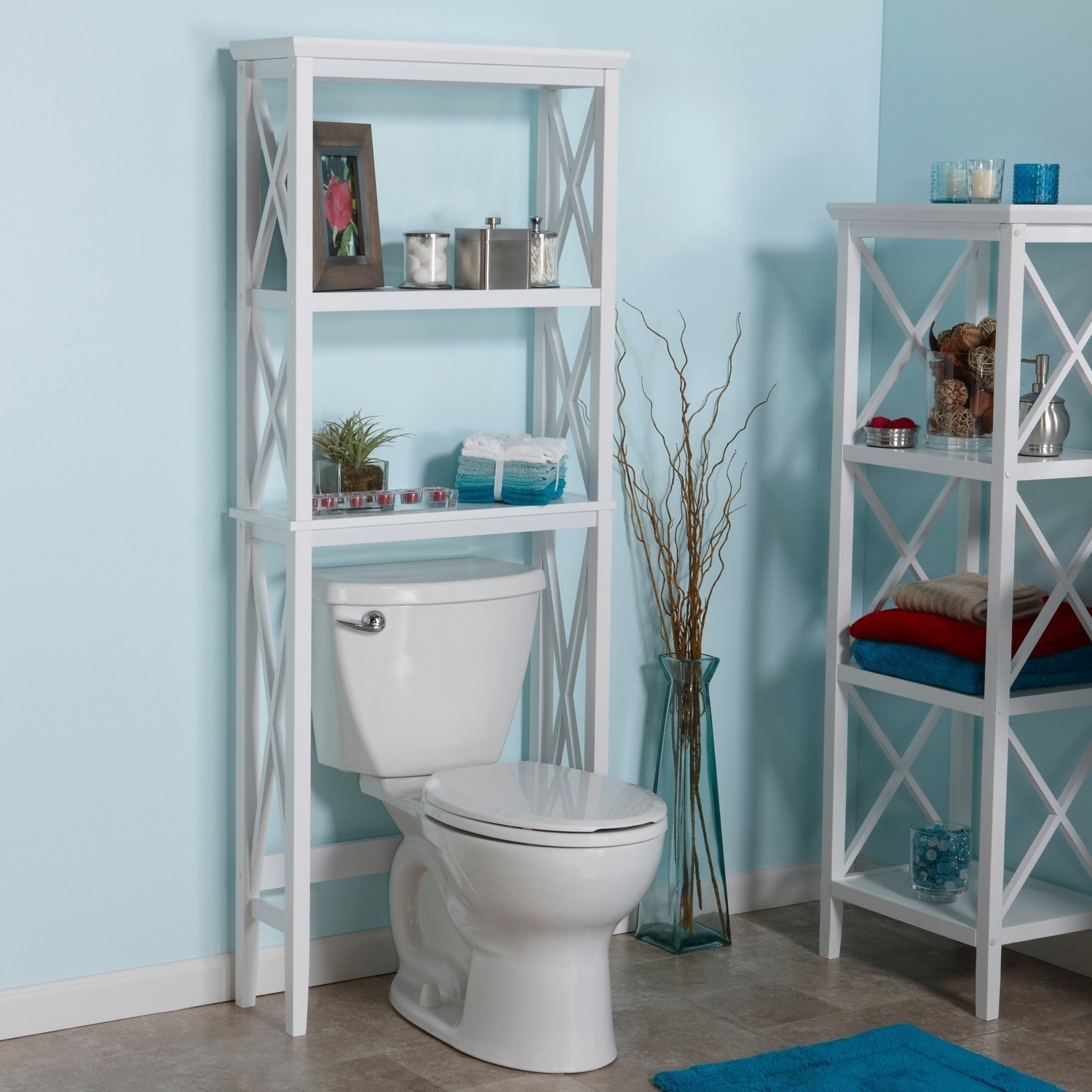 RiverRidge Home X Frame Bathroom Spacesaver   Free Shipping Today    Overstock.com   15630893