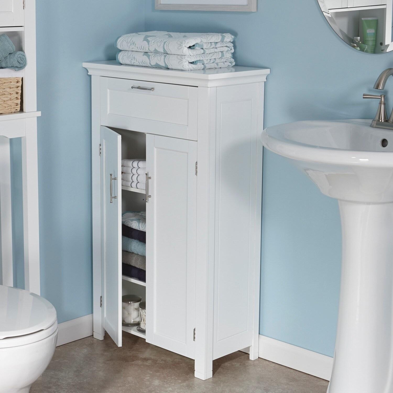 Shop RiverRidge Home Somerset 2-door White Floor Cabinet - Free ...