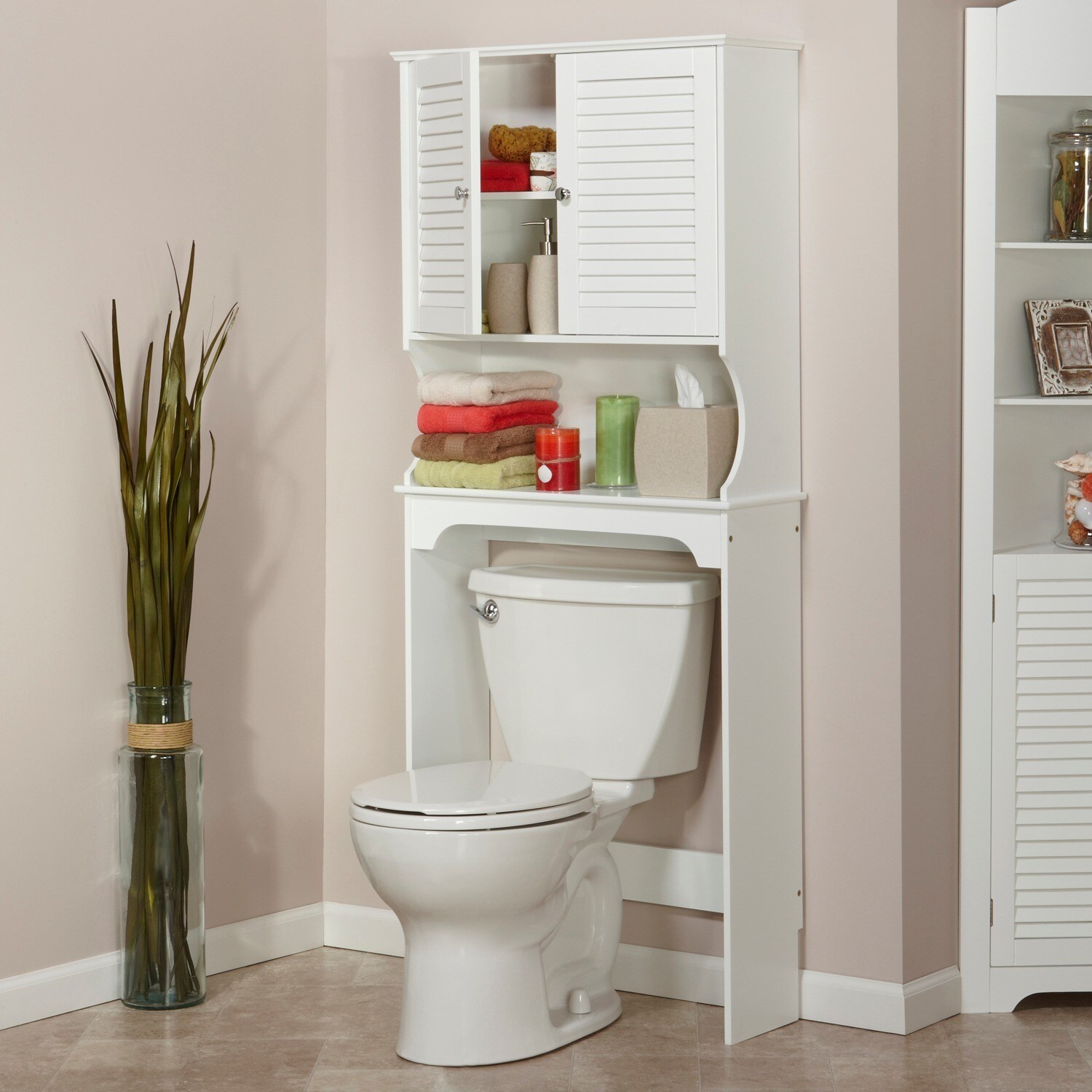 RiverRidge Home Products Painted Ellsworth Spacesaver Cabinet Hutch   Free  Shipping Today   Overstock.com   15630950