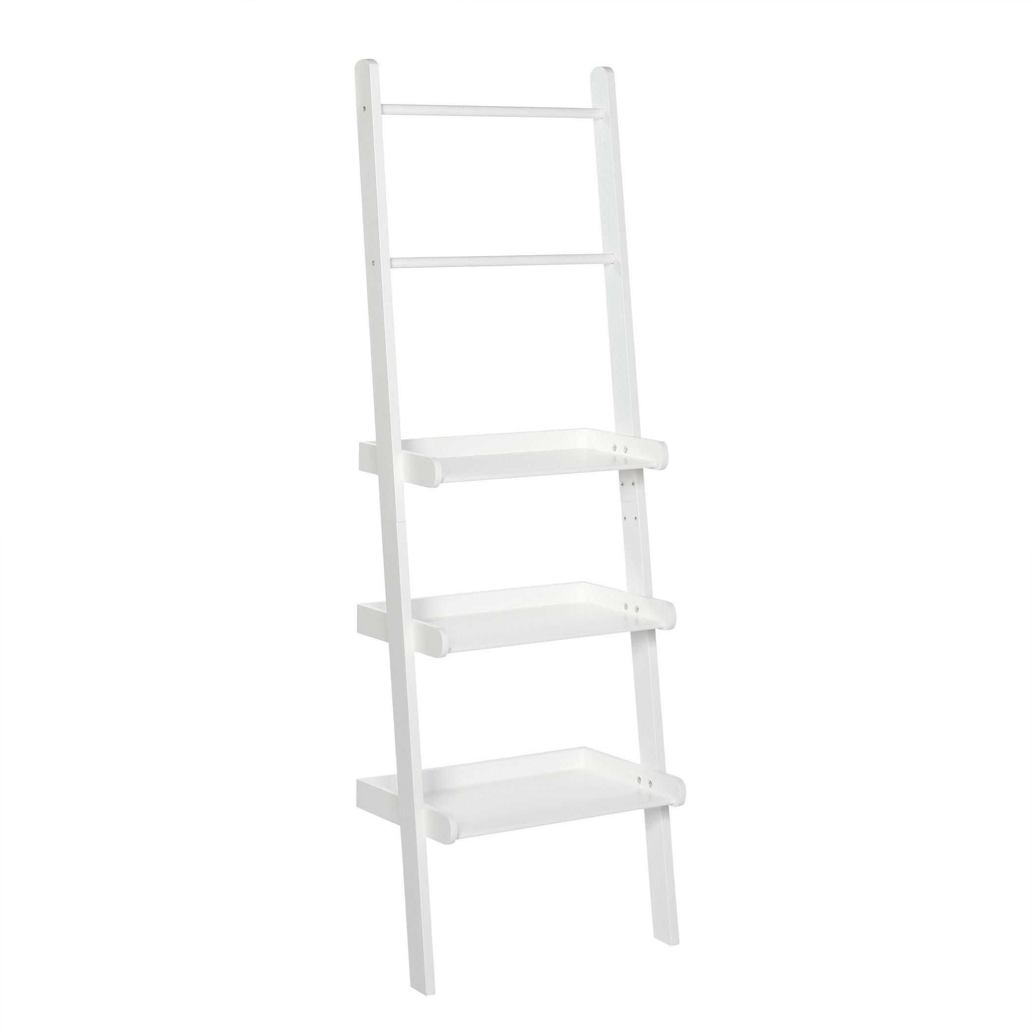 Shop RiverRidge Home Ladder Shelf with Towel Bars - Free Shipping ...
