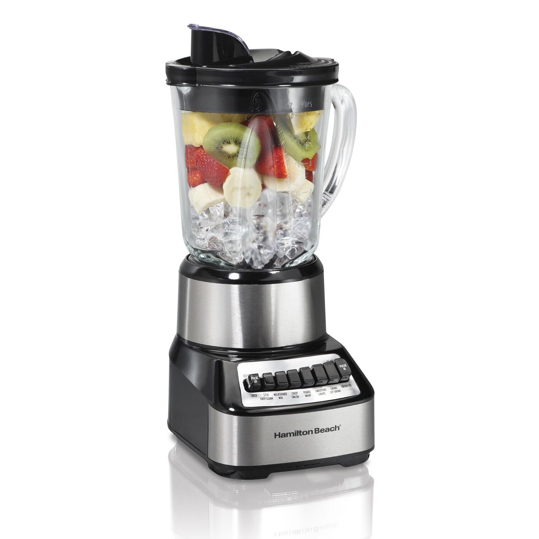 Hamilton Beach Stainless 14 Speed Glass Jar Blender Free