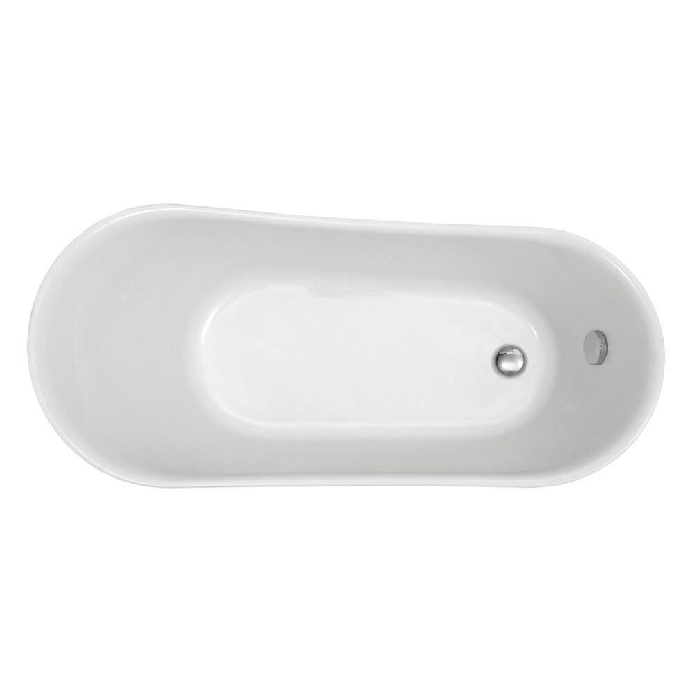 Shop Dorya Pure Acrylic 69-Inch All-in-One Clawfoot Tub Kit - Free ...