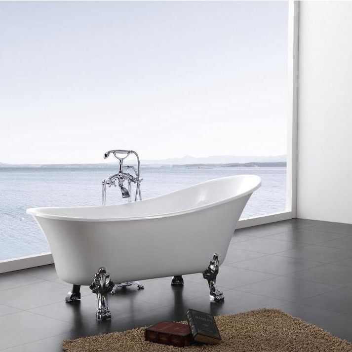 Shop Dorya Pure Acrylic 69-Inch All-in-One Clawfoot Tub Kit - Free ...