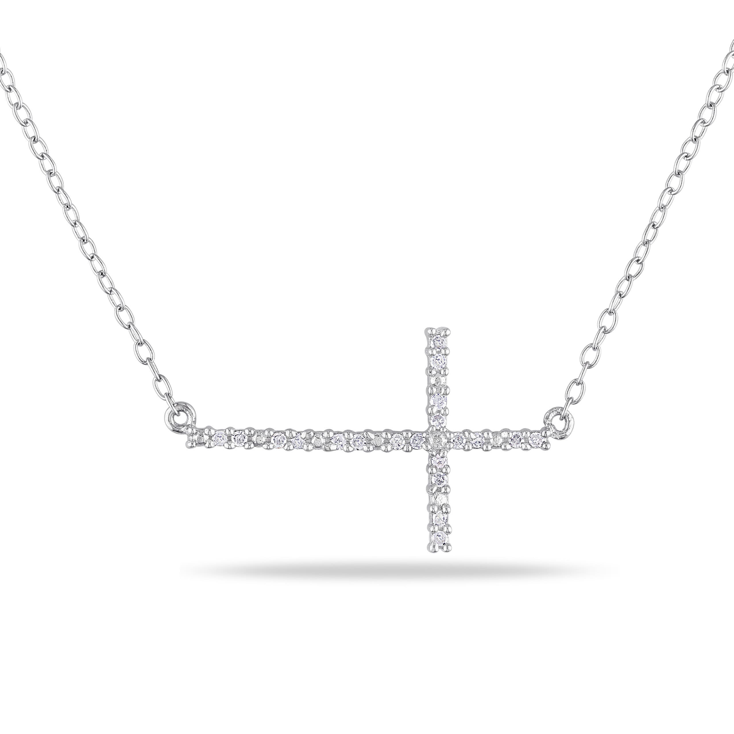 products ssc free silver cross christian the sideways positive necklace shipping