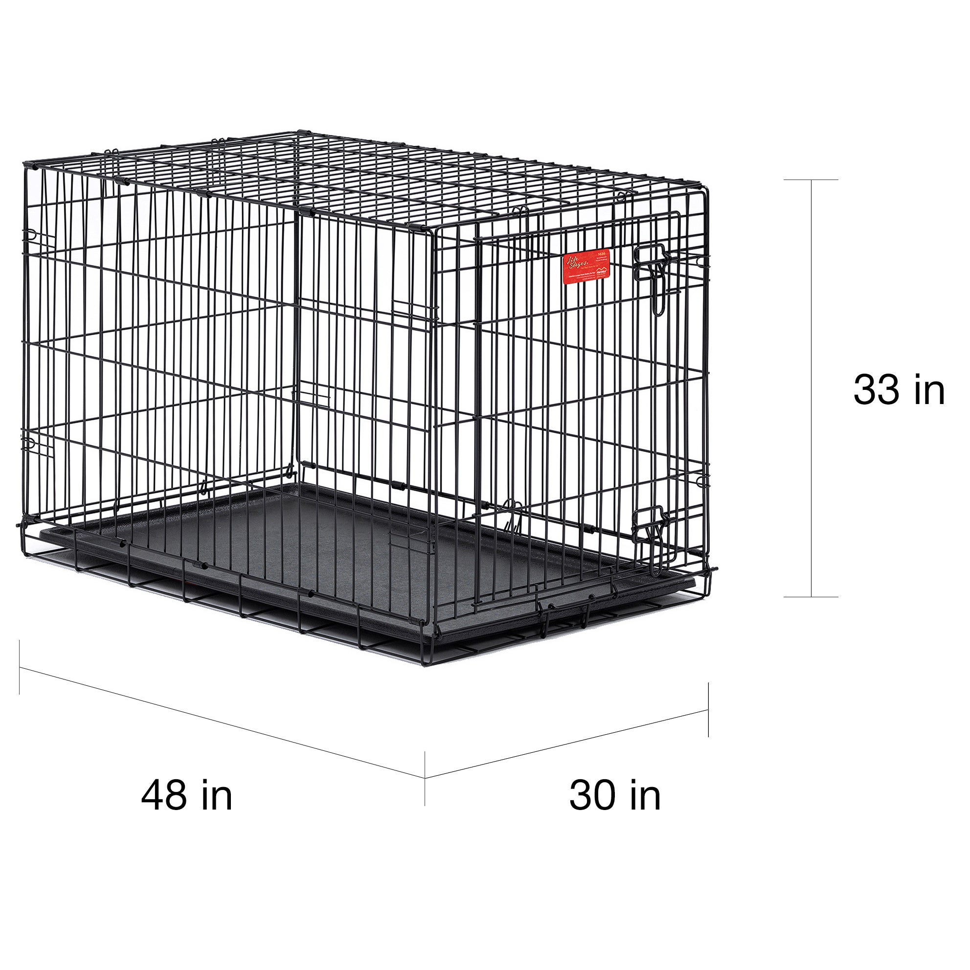 Shop Midwest Life Stages Single Door Folding Dog Crate Free