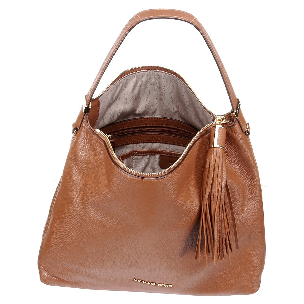 f0ed21567aaa Shop Michael Kors Weston Large Top Zip Shoulder Bag - Luggage - Free  Shipping Today - Overstock - 8331710