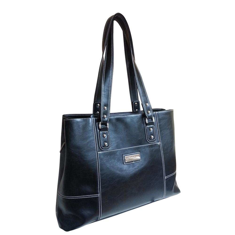 Franklin Covey Hhg Blacy Vinyl Tote Bag Free Shipping Today 8331848