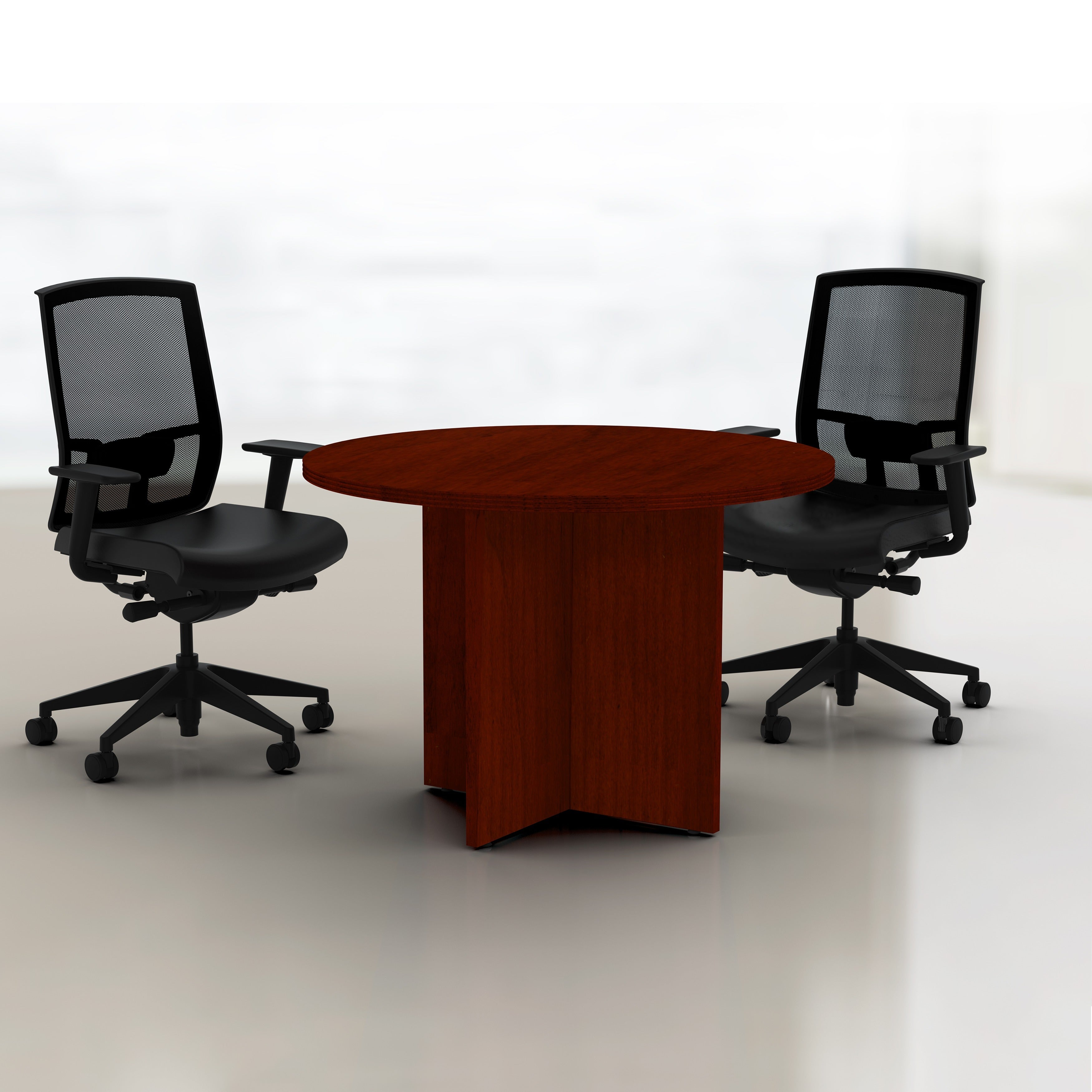 Mayline Luminary Inch Round Conference Table Free Shipping - 42 inch round office table