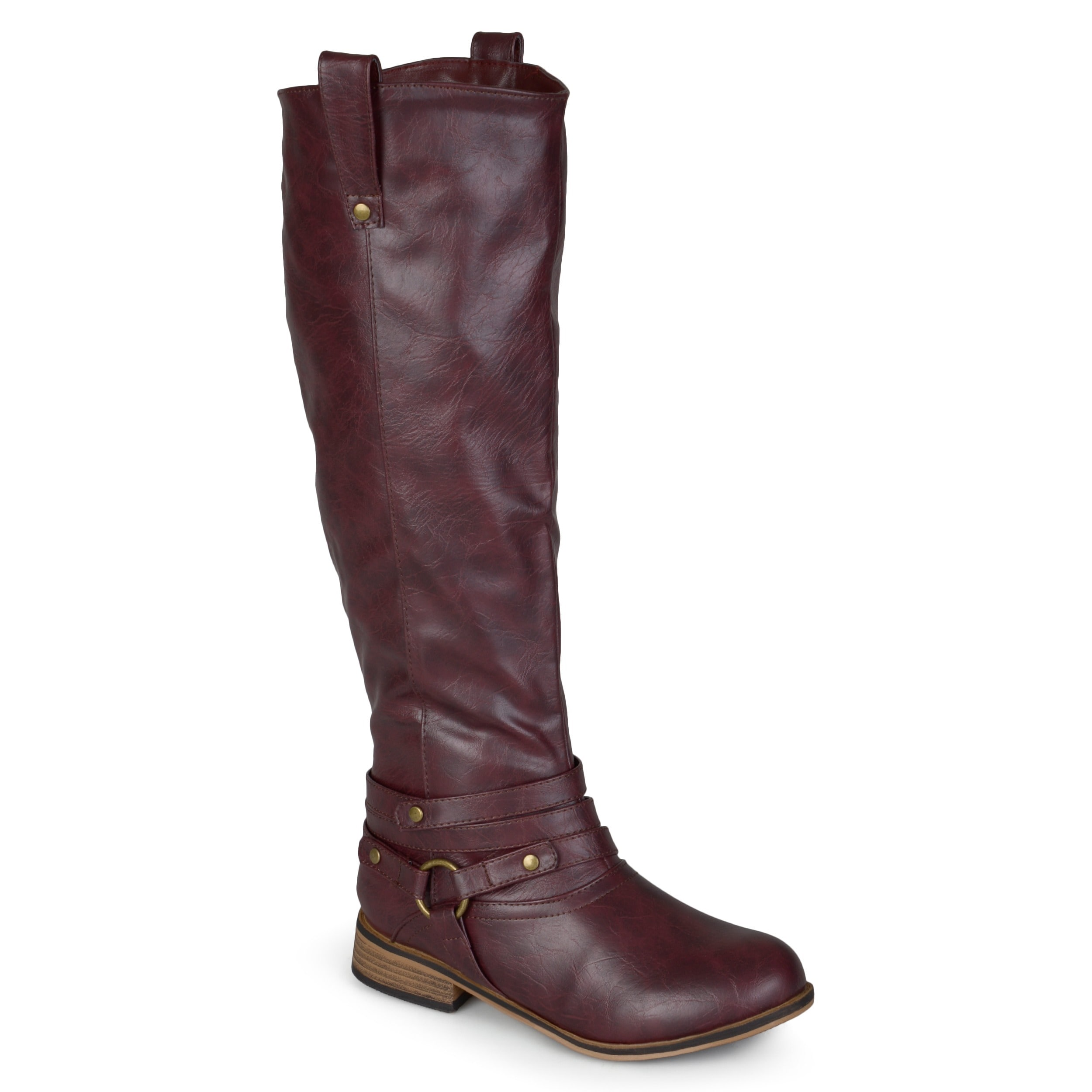 b9c74c42575a Journee Collection Women's 'Walla' Regular and Wide-calf Ankle-strap Knee-high  Riding Boot