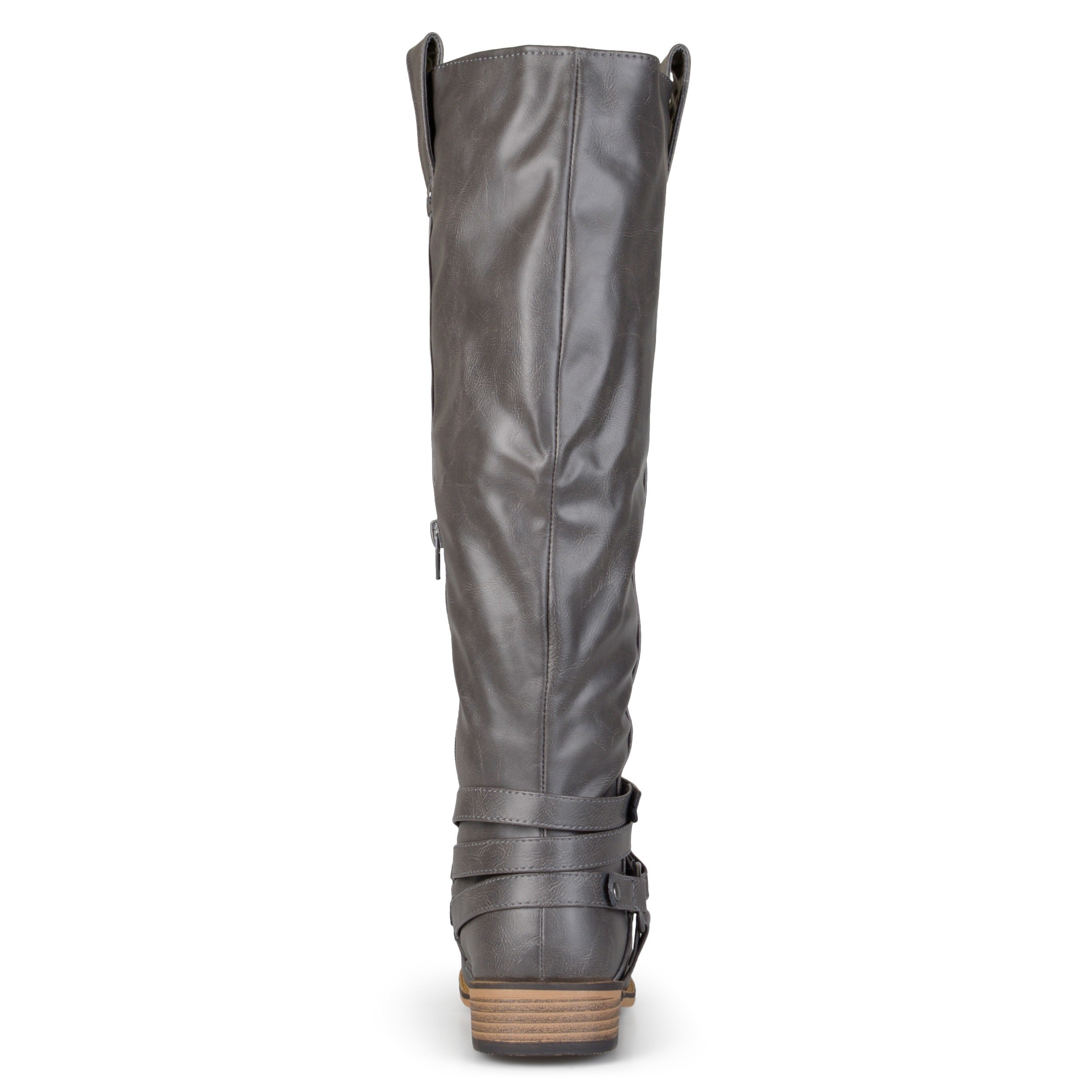6f45658d5e2c Shop Journee Collection Women s  Walla  Regular and Wide-calf Ankle-strap  Knee-high Riding Boot - On Sale - Free Shipping Today - Overstock - 8342899