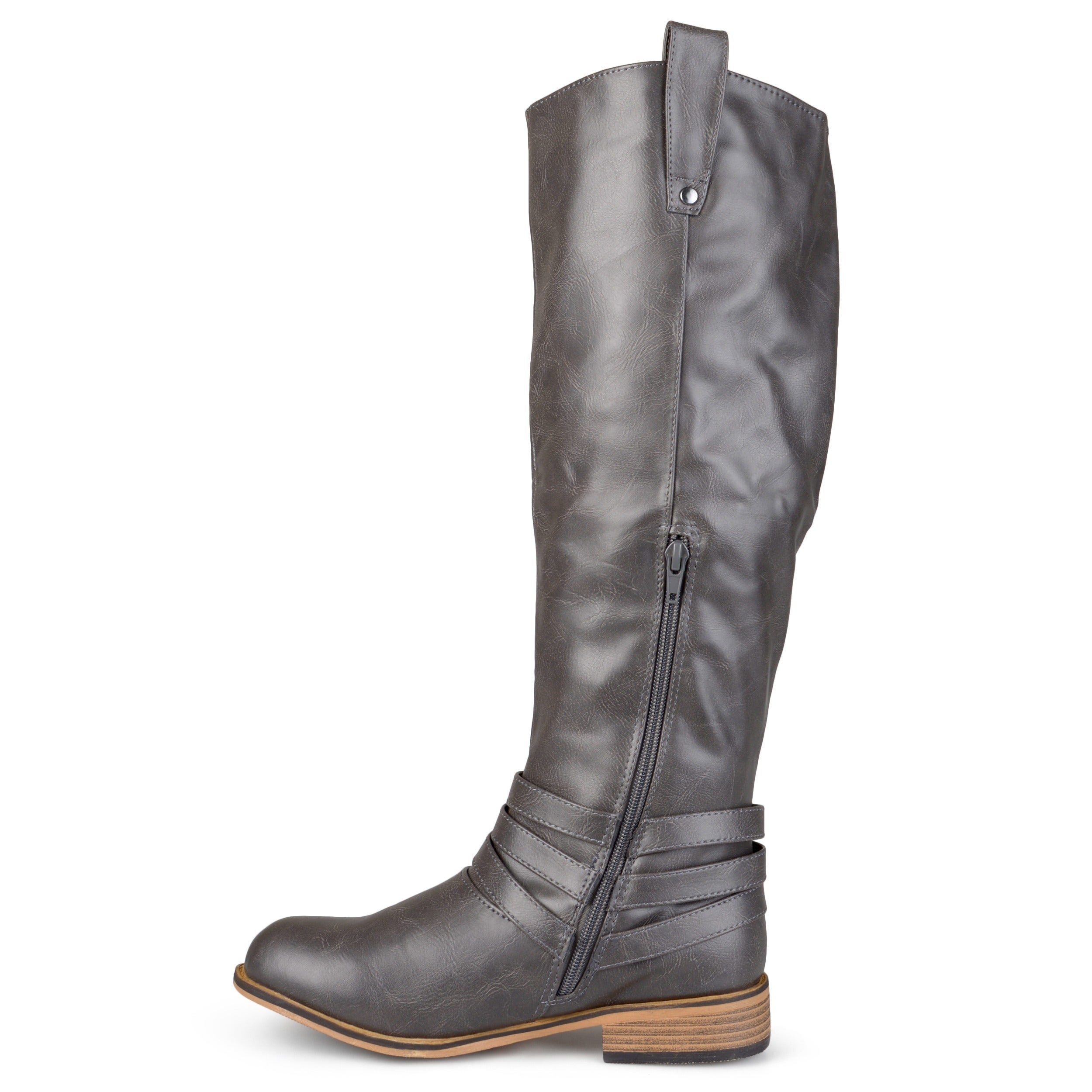 Journee Collection Women's 'Walla' Regular and Wide-calf Ankle-strap  Knee-high Riding Boot - Free Shipping Today - Overstock.com - 15653317