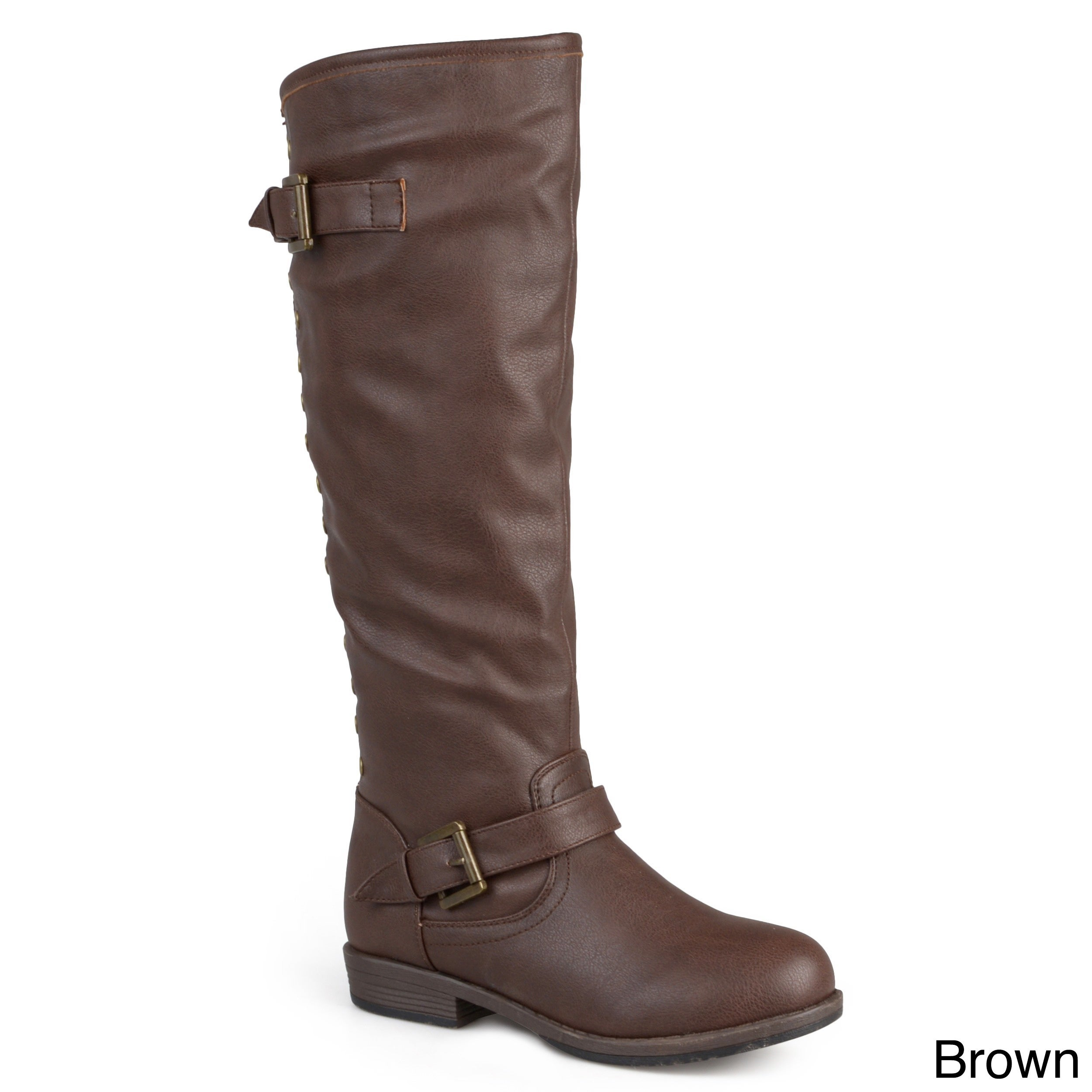 40e65cf48cfa Shop Journee Collection Women's 'Spokane' Red Zipper Riding Boot - Free  Shipping Today - Overstock - 8342906