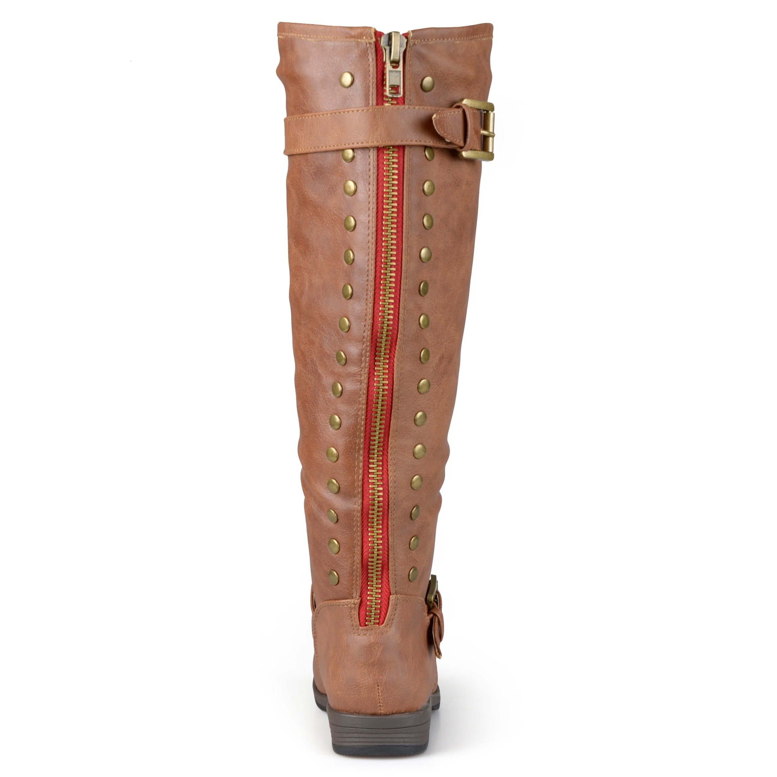 a61bbacaf7c Shop Journee Collection Women s  Spokane  Red Zipper Riding Boot - On Sale  - Free Shipping Today - Overstock - 8342906