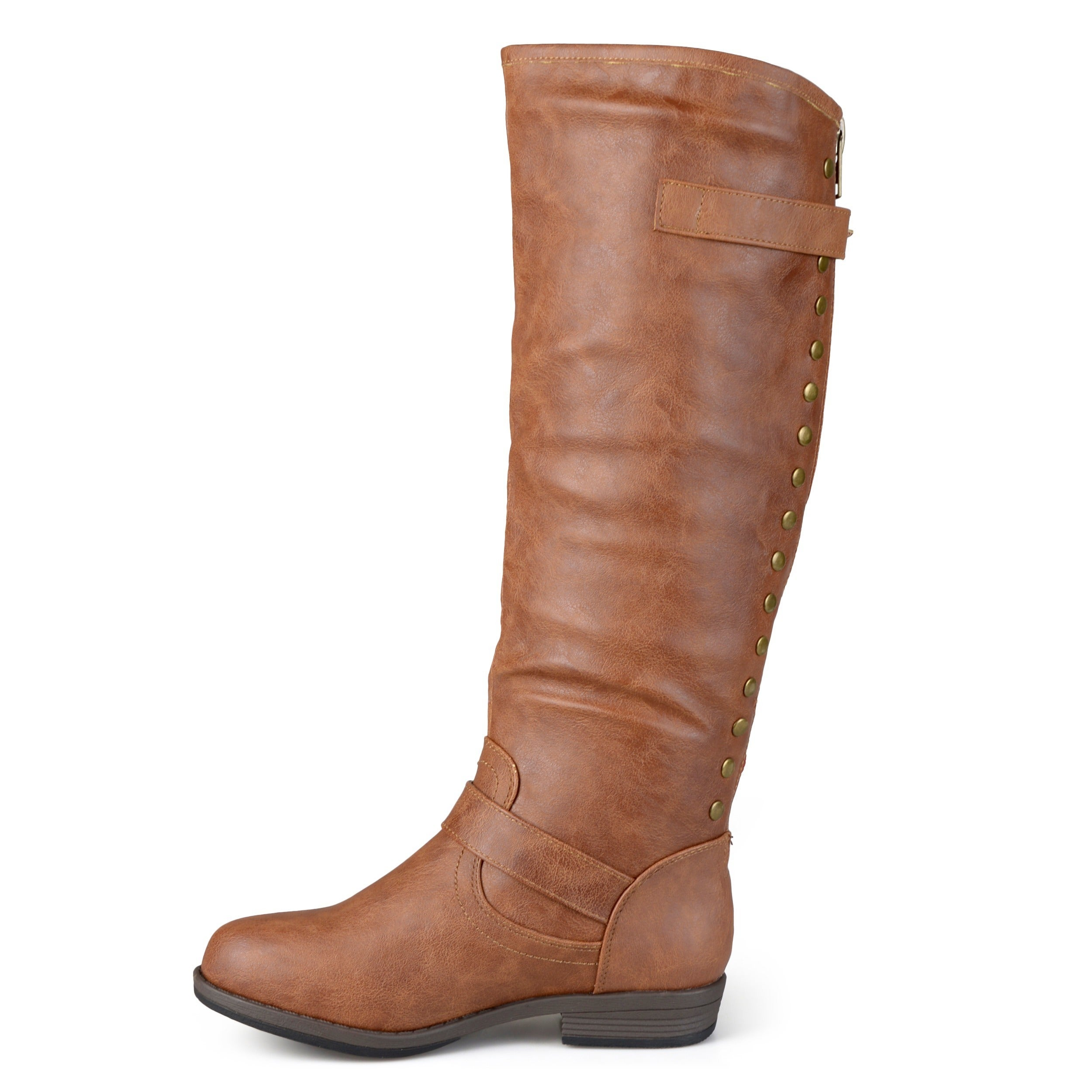 4fa2b1e3608d1 Shop Journee Collection Women's 'Spokane' Red Zipper Riding Boot - Free  Shipping Today - Overstock - 8342906