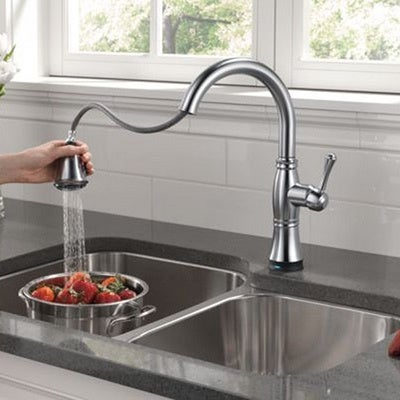 Delta Cidy Single Handle Pull Down Kitchen Faucet With Touch2o Technology Free Shipping Today 8343386
