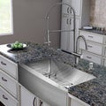 "VIGO All-In-One 30"" Bedford Stainless Steel Farmhouse Kitchen Sink Set With Dresden Faucet In Stainless Steel"