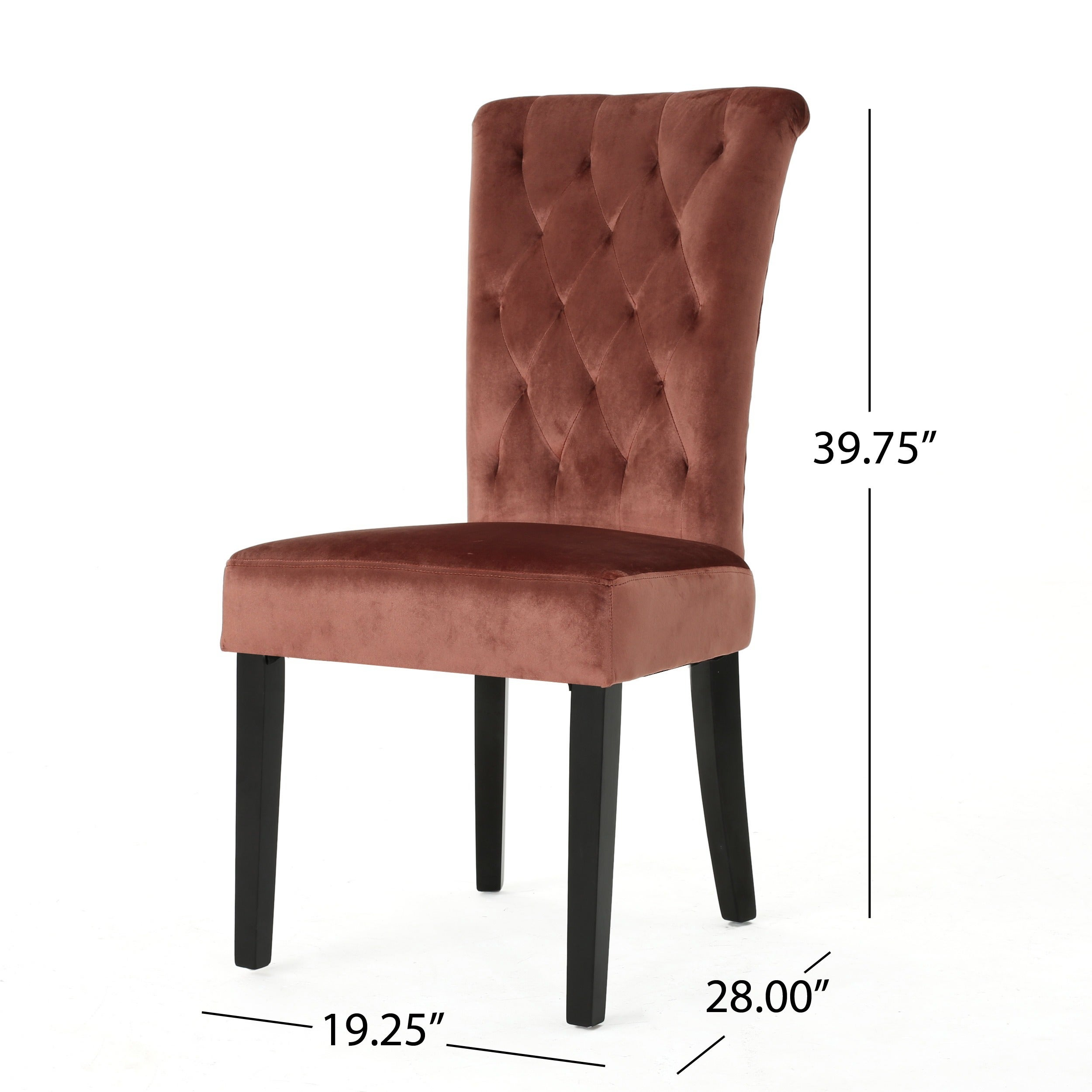 Venetian Velvet Dining Chair (Set Of 2) By Christopher Knight Home   Free  Shipping Today   Overstock.com   15653844