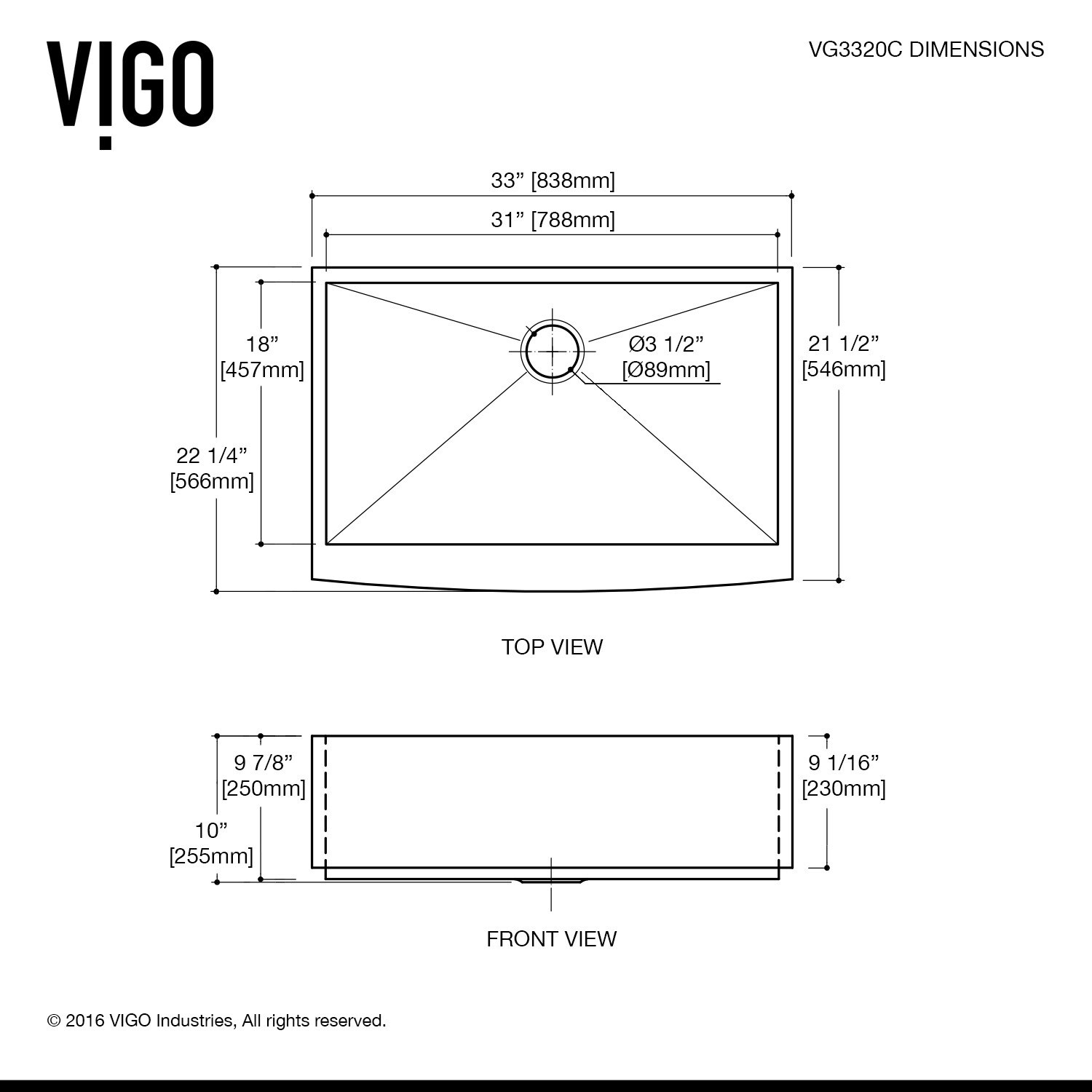 Shop Vigo All In One 33 Camden Stainless Steel Farmhouse Kitchen Diagram Of Parts For Hamilton Centerset Two Handle Bathroom Faucet Sink Set With Zurich On Sale Free Shipping Today