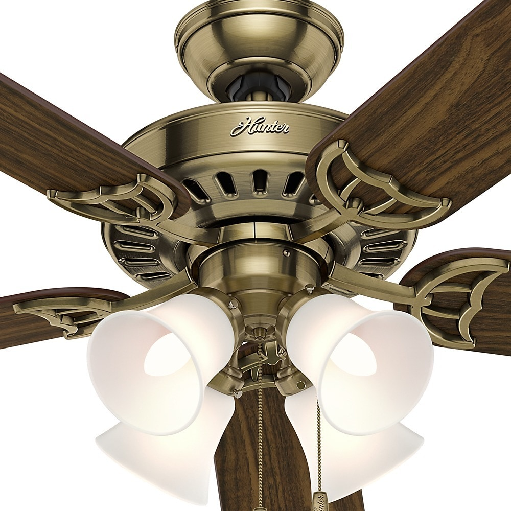 Hunter fan studio series 52 inch antique brass ceiling fan free hunter fan studio series 52 inch antique brass ceiling fan free shipping today overstock 15654570 mozeypictures Choice Image
