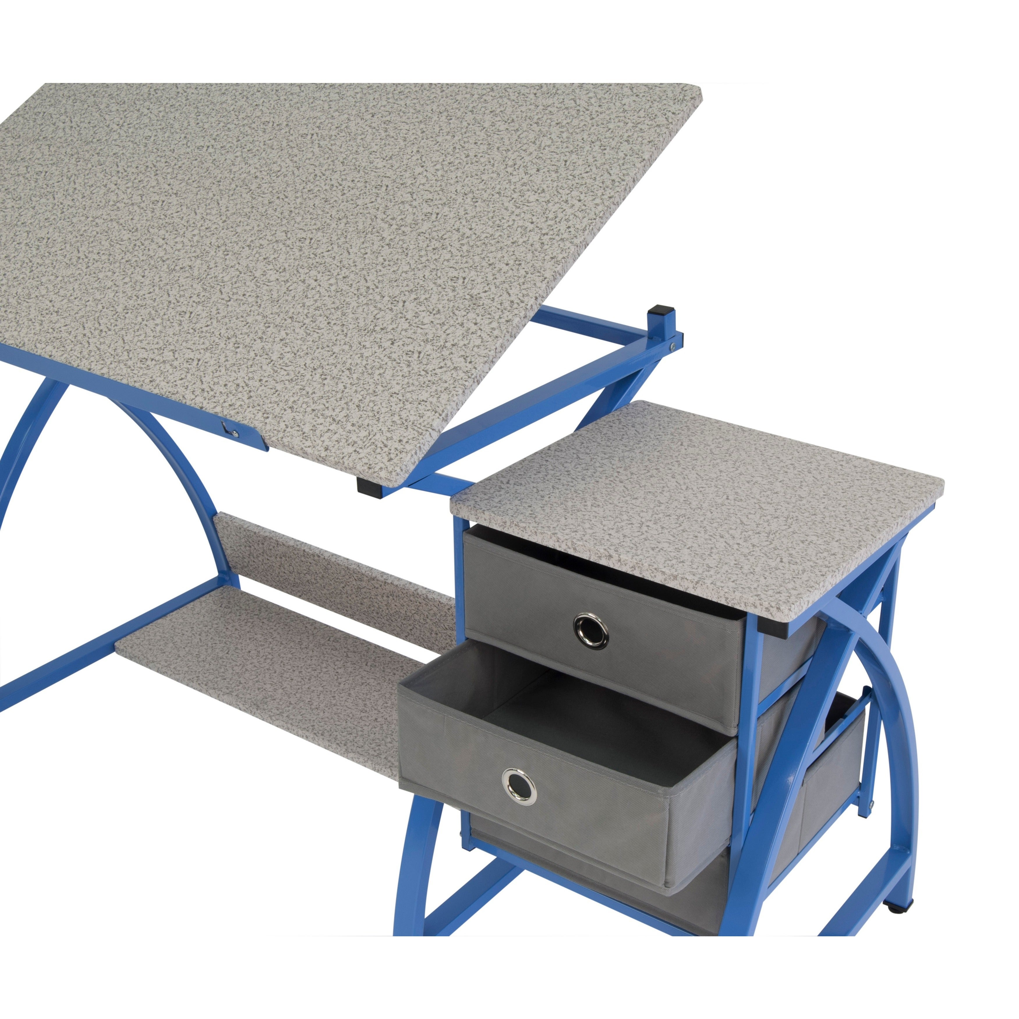 Shop Studio Designs Comet Blue Drafting Hobby Craft Table With Stool