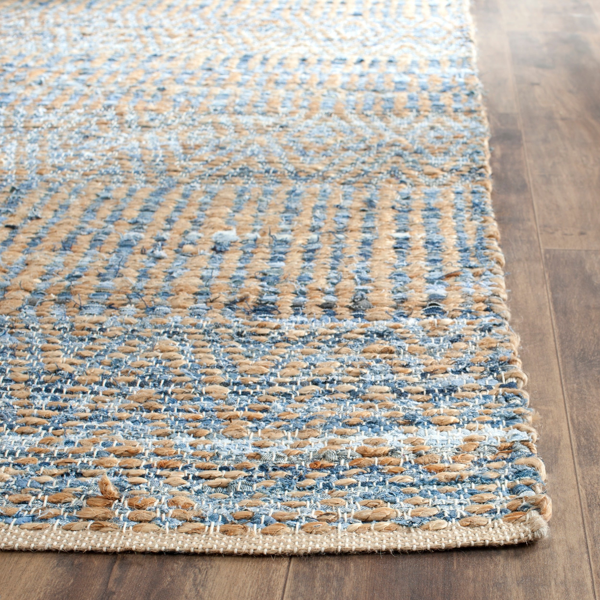 Safavieh Cape Cod Handmade Natural Blue Jute Fiber Rug 8 X 10 Free Shipping Today 15658287