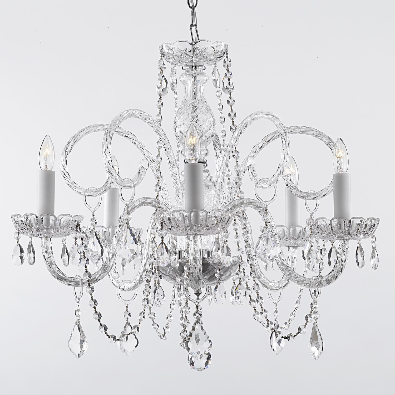 Gallery venetian style all crystal 5 light chandelier free gallery venetian style all crystal 5 light chandelier free shipping today overstock 15661453 arubaitofo Choice Image