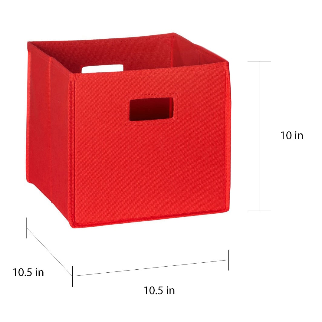 Genial Shop RiverRidge Kids Folding Storage Bins With Handles (Set Of 2)   Free  Shipping On Orders Over $45   Overstock.com   8352538