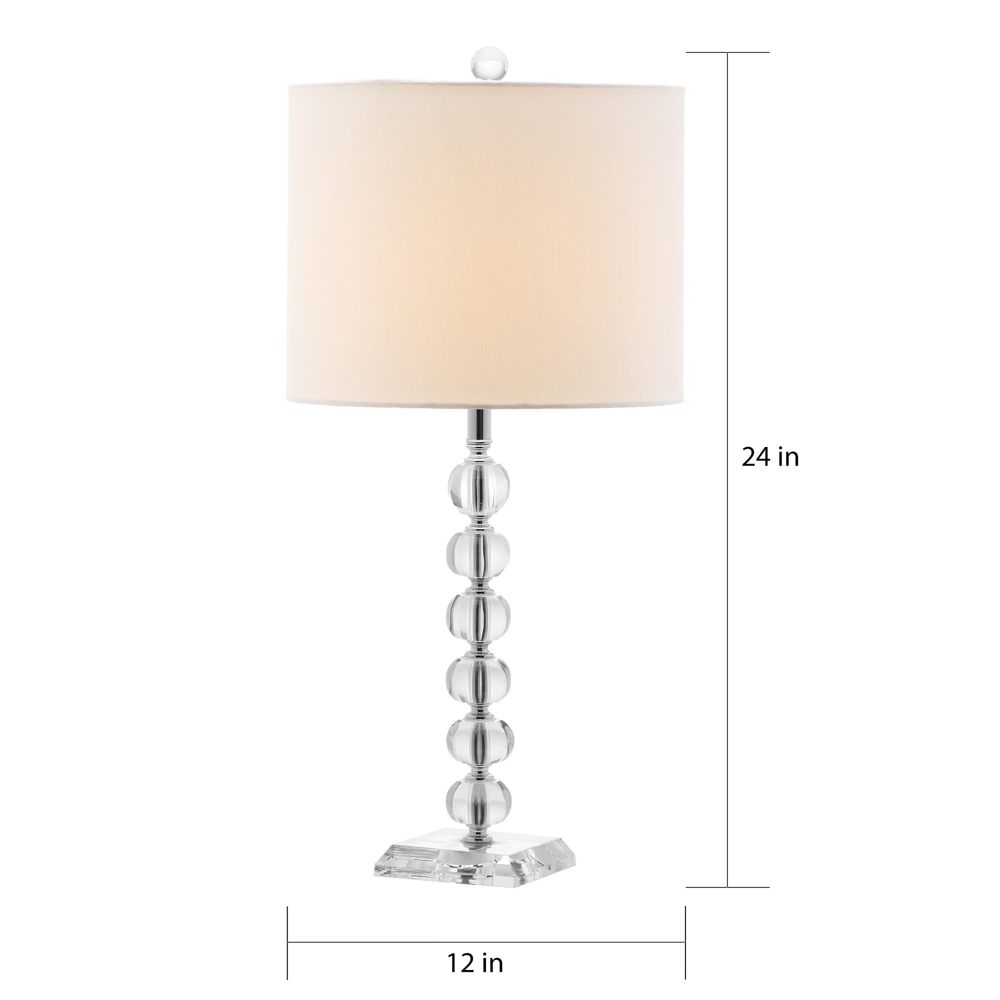 Shop Safavieh Lighting Victoria White Shade/Crystal Ball 24 Inch Table Lamp  (Set Of 2)   Free Shipping Today   Overstock.com   8353207