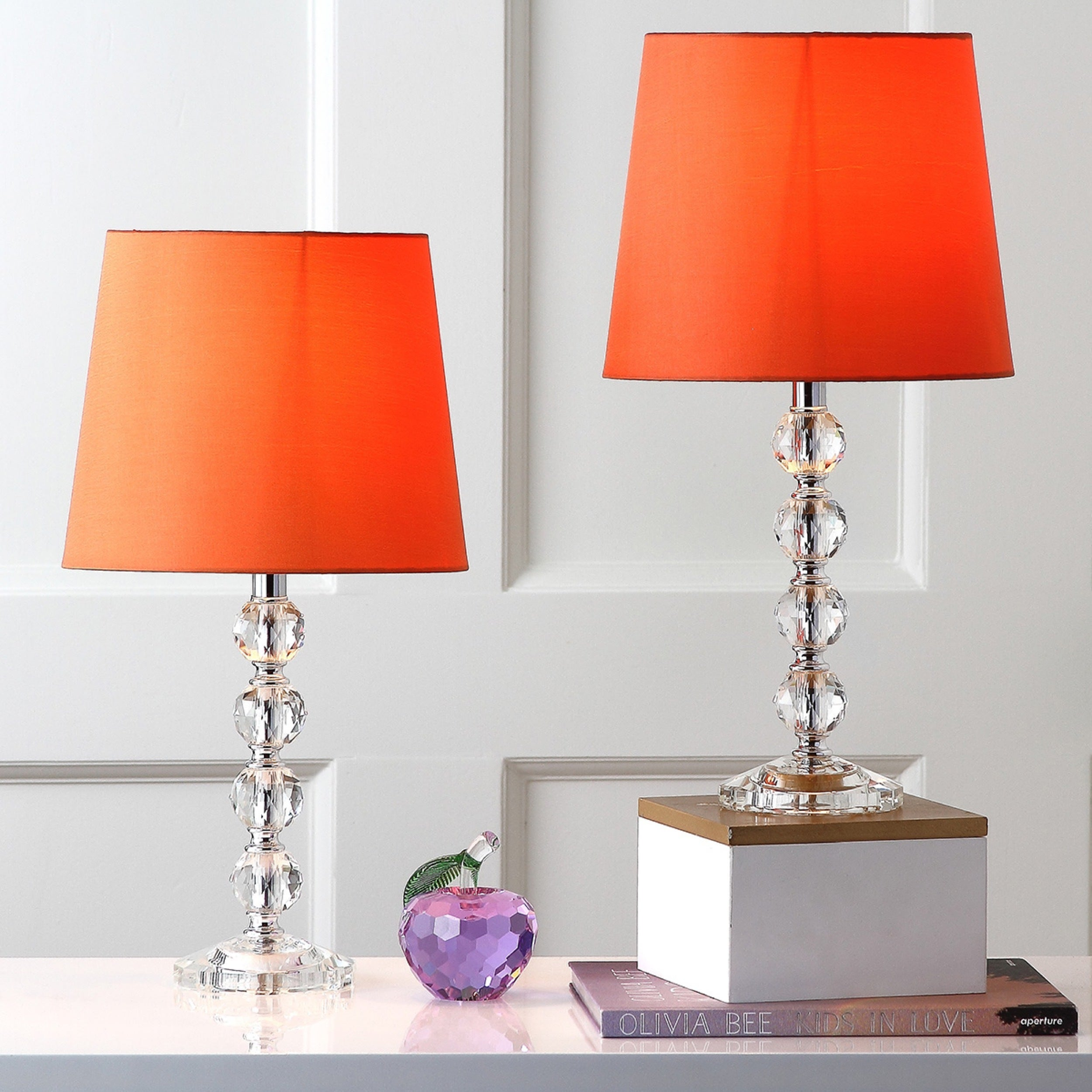 Safavieh lighting 16 inch nola orange shade stacked crystal ball safavieh lighting 16 inch nola orange shade stacked crystal ball table lamp set of 2 free shipping today overstock 15662230 mozeypictures Choice Image