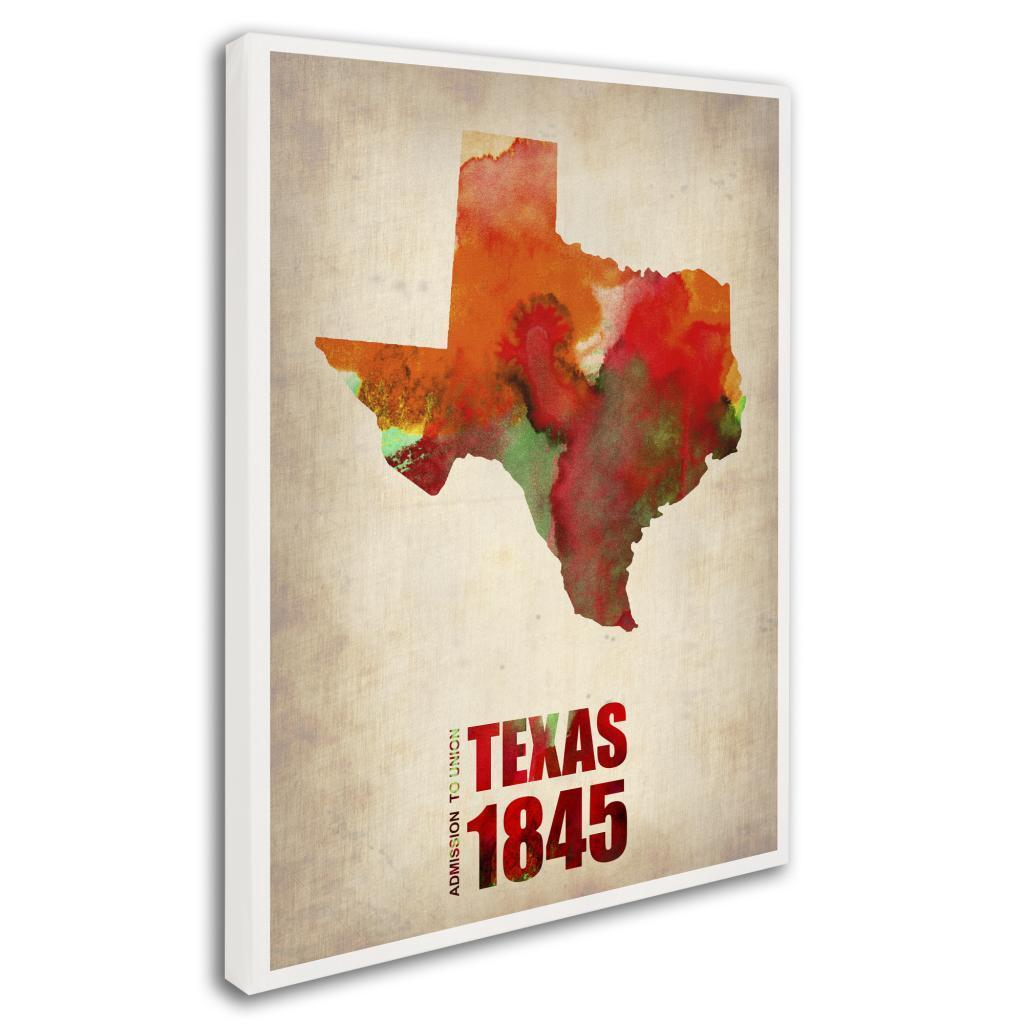 bc8b1d96 Naxart 'Texas Watercolor Map' Canvas Art - Multi
