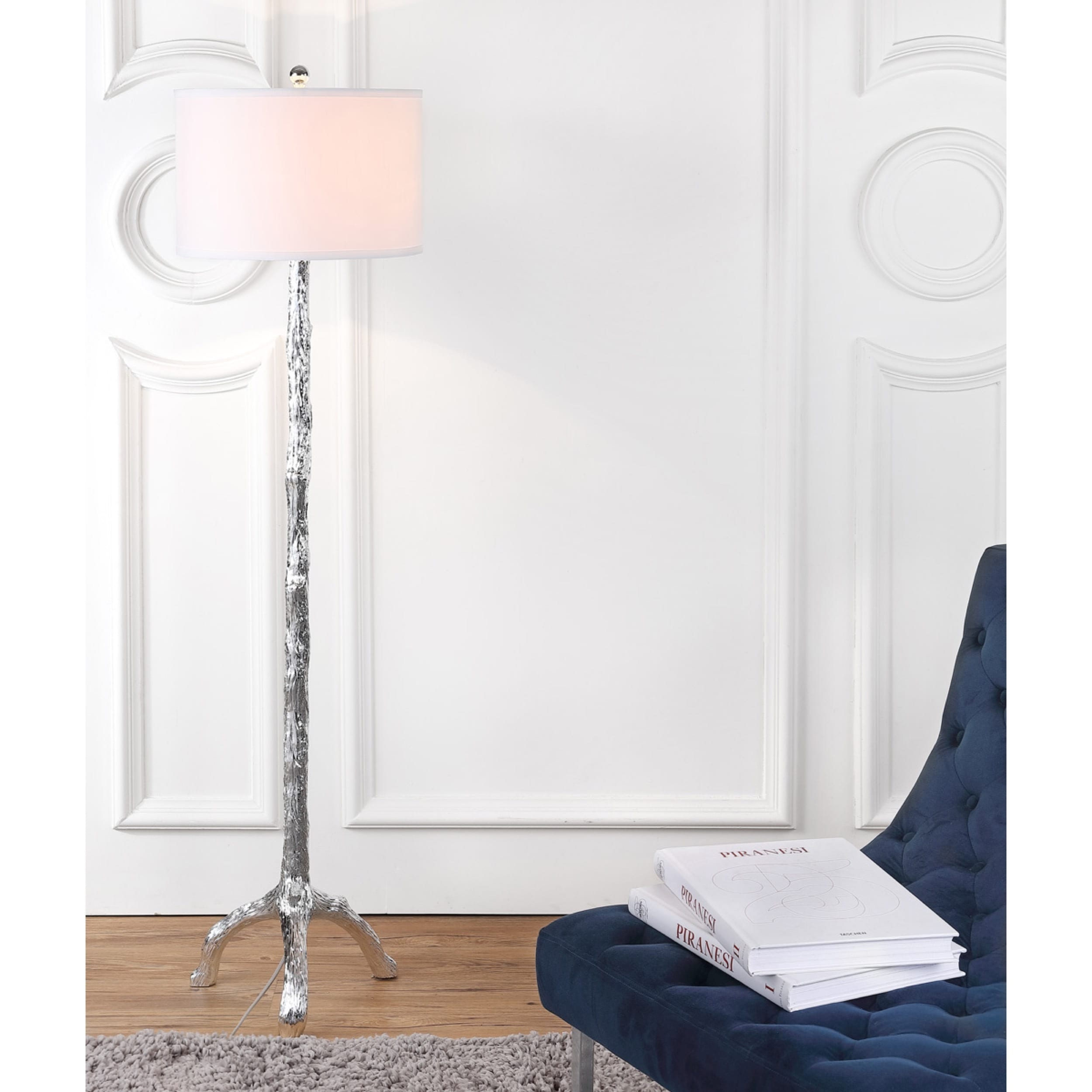 Safavieh Lighting 57 Inch Silver Branch Floor Lamp   Free Shipping Today    Overstock.com   15662544