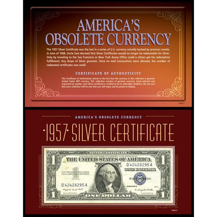 Shop American Coin Treasures Americas Obsolete Currency 1957 Silver Certificate
