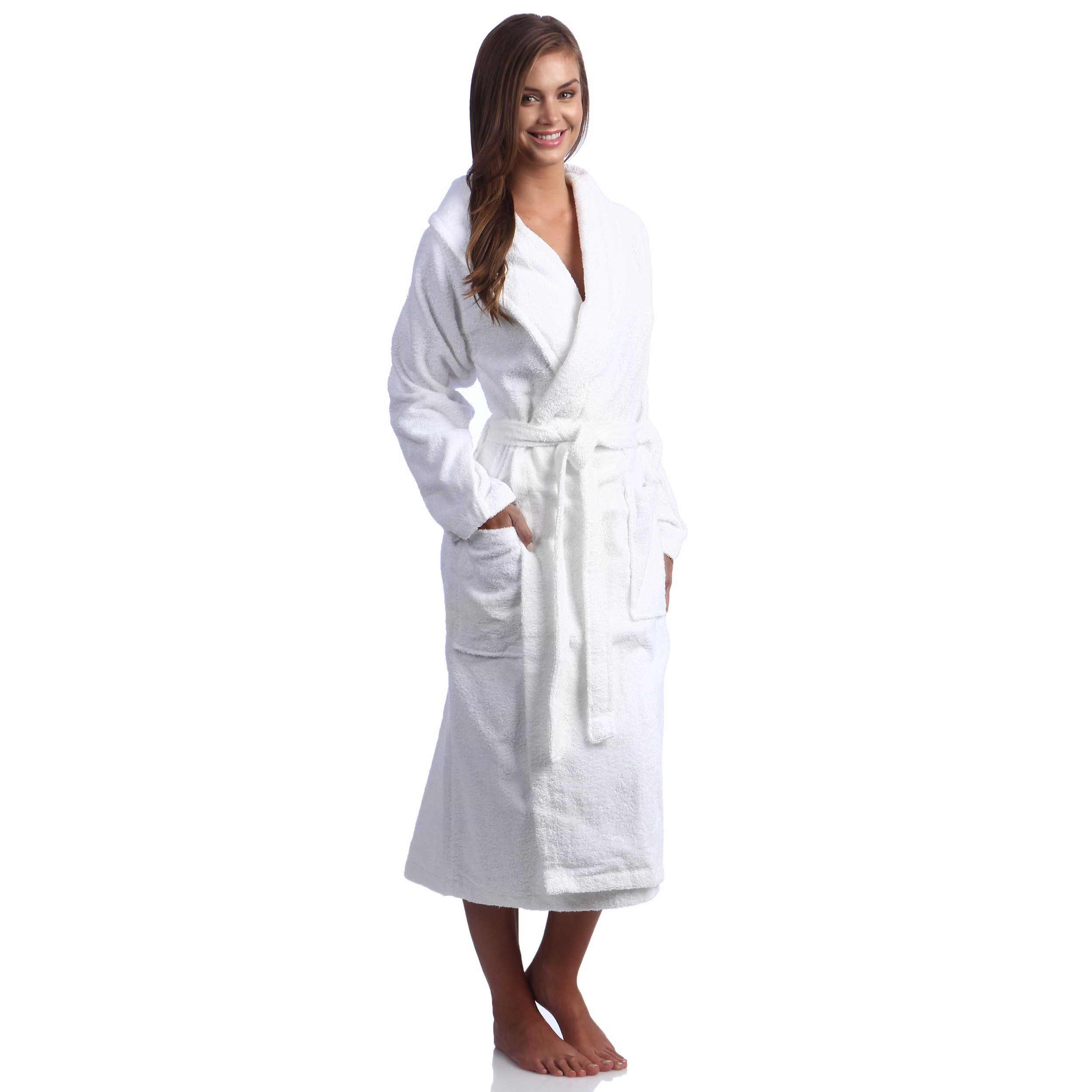 Shop Classic Turkish Towel Shawl Collar Cotton Terry Cloth Bath Robe ... be5a9480c
