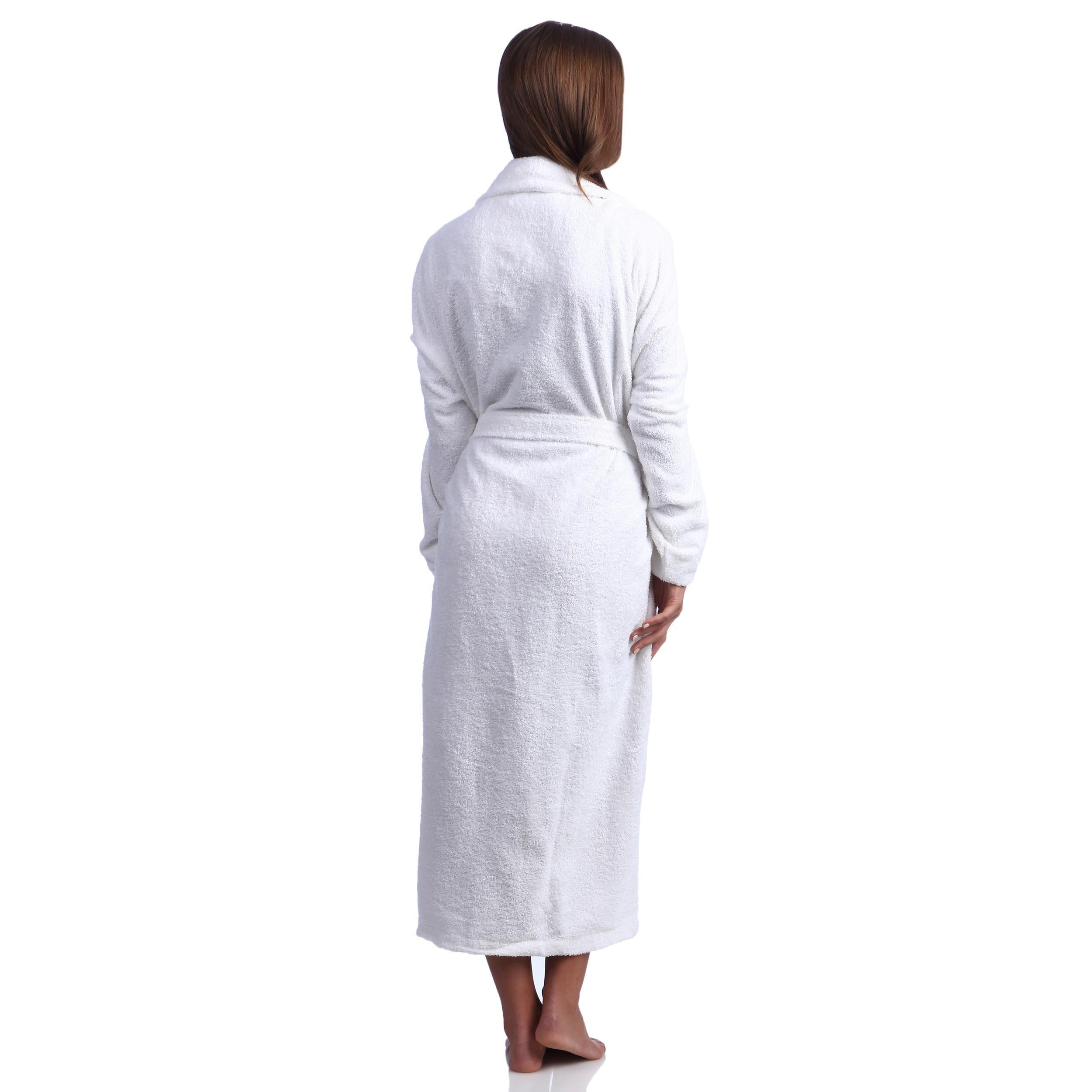 067b9d926b Shop Classic Turkish Towel Shawl Collar Cotton Terry Cloth Bath Robe - Free  Shipping Today - Overstock - 8358075
