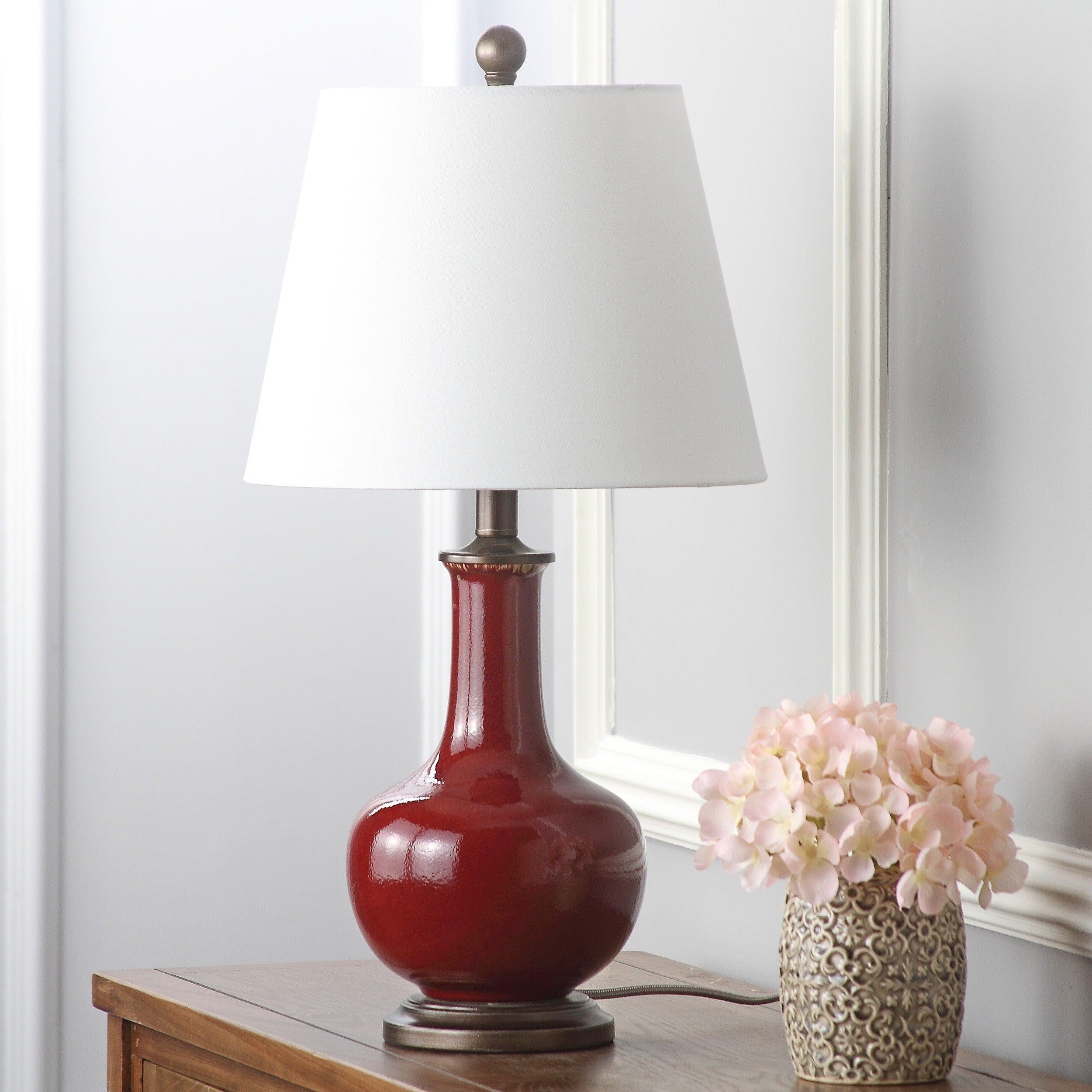 Safavieh Lighting 25 Inch Carolanne Red Table Lamp Set Of 2 On Free Shipping Today 8358958