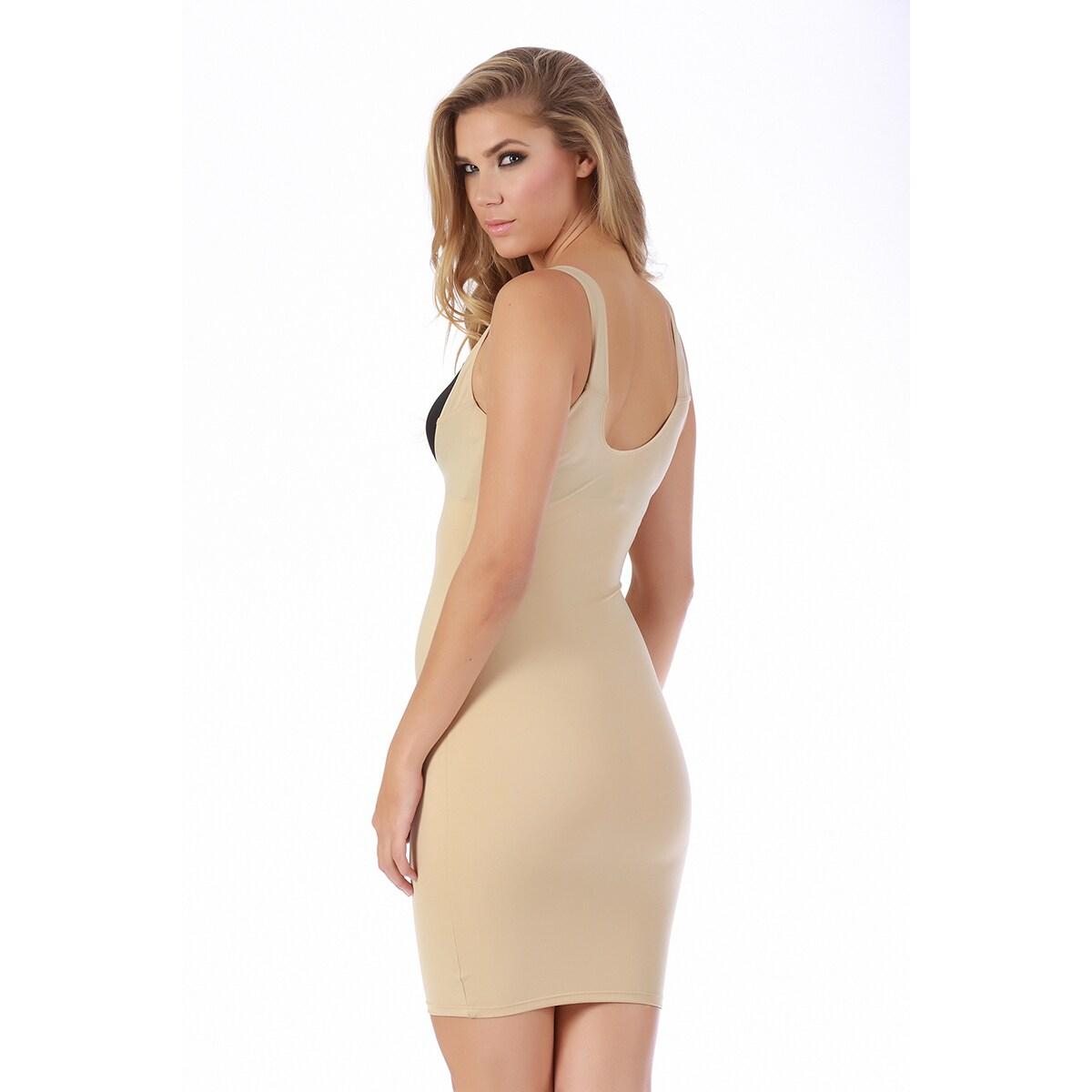 8b710a247 Shop InstantFigure Women s Underbust Slip Dress Shapewear - Free Shipping  Today - Overstock - 8361259