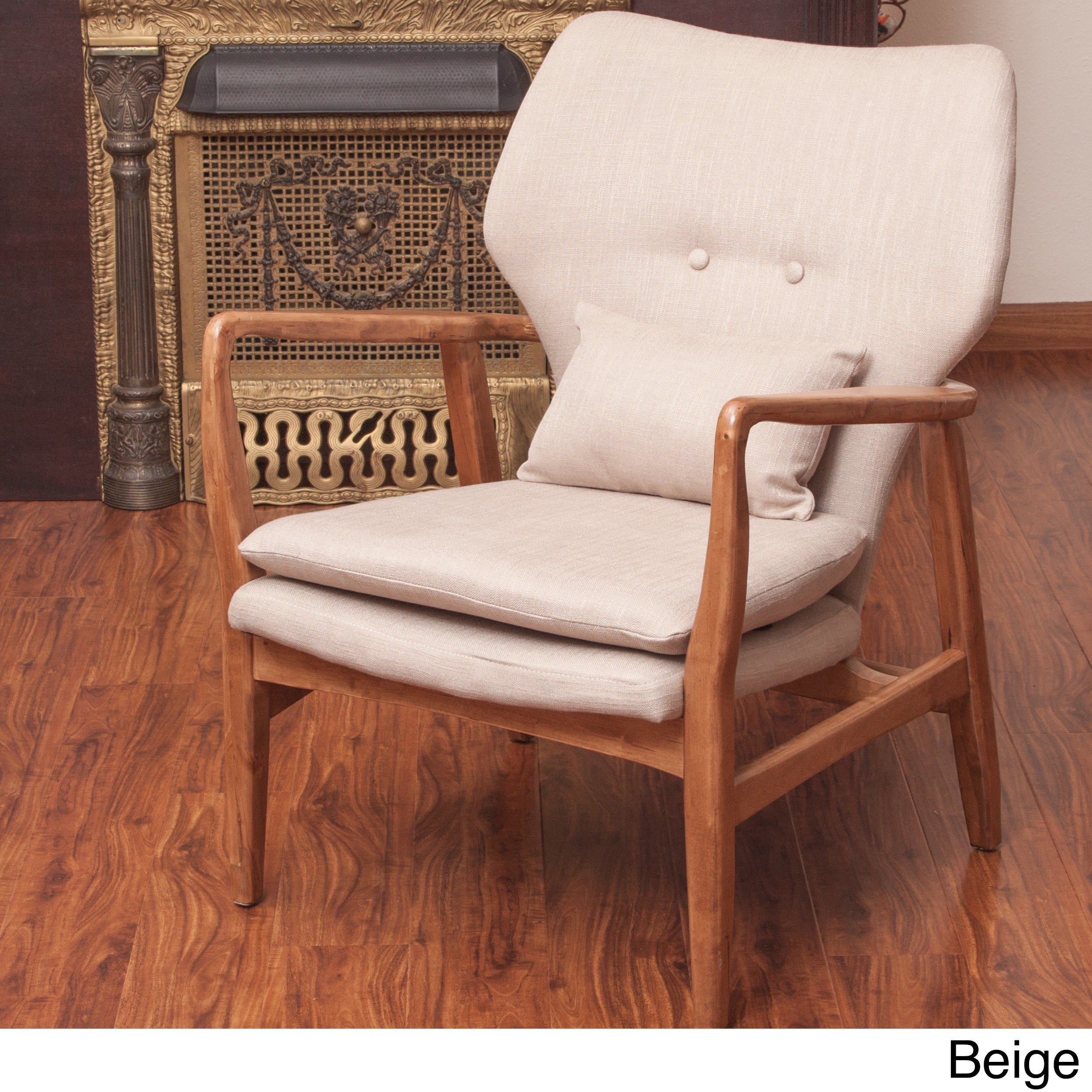 haddie wood frame club chair by christopher knight home free shipping today overstockcom 15669285 - Wood Frame Chair
