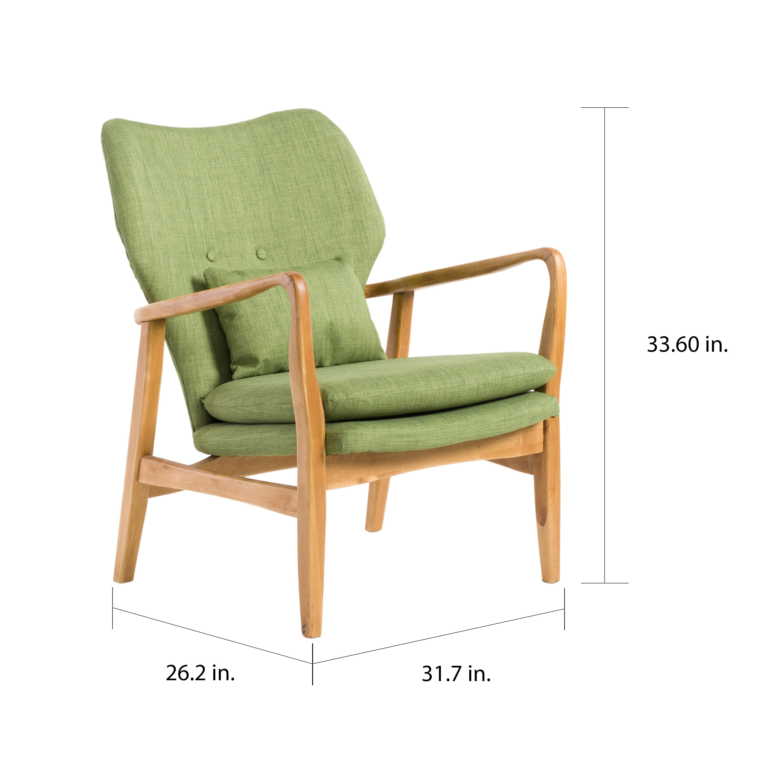 Haddie Wood Frame Club Chair by Christopher Knight Home - Free ...