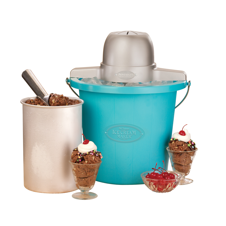 Nostalgia ICMP400BLUE Vintage Collection 4 qt. Electric Ice Cream ...