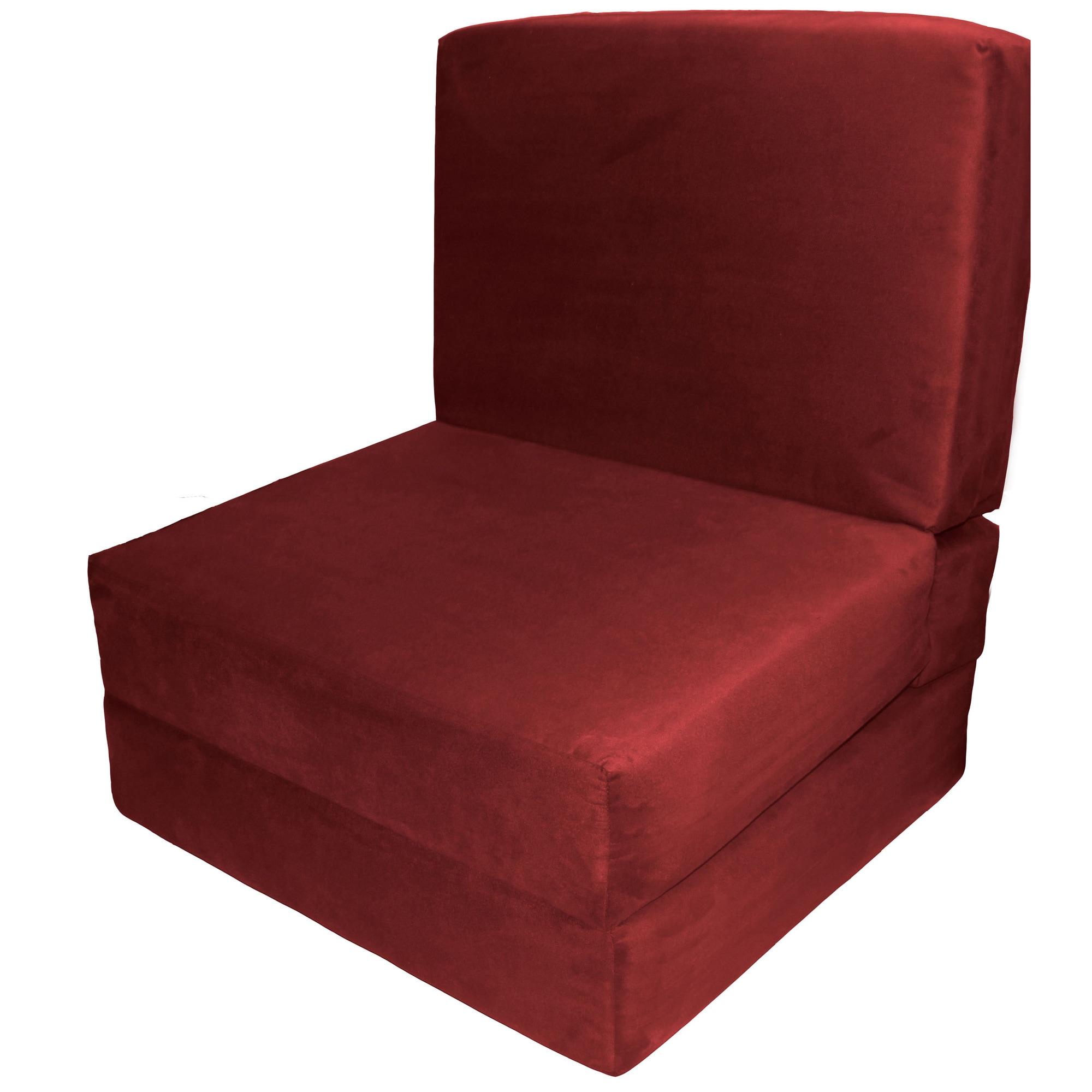 Nomad Adult Microfiber Suede Foam Sleeper Chair Bed Free