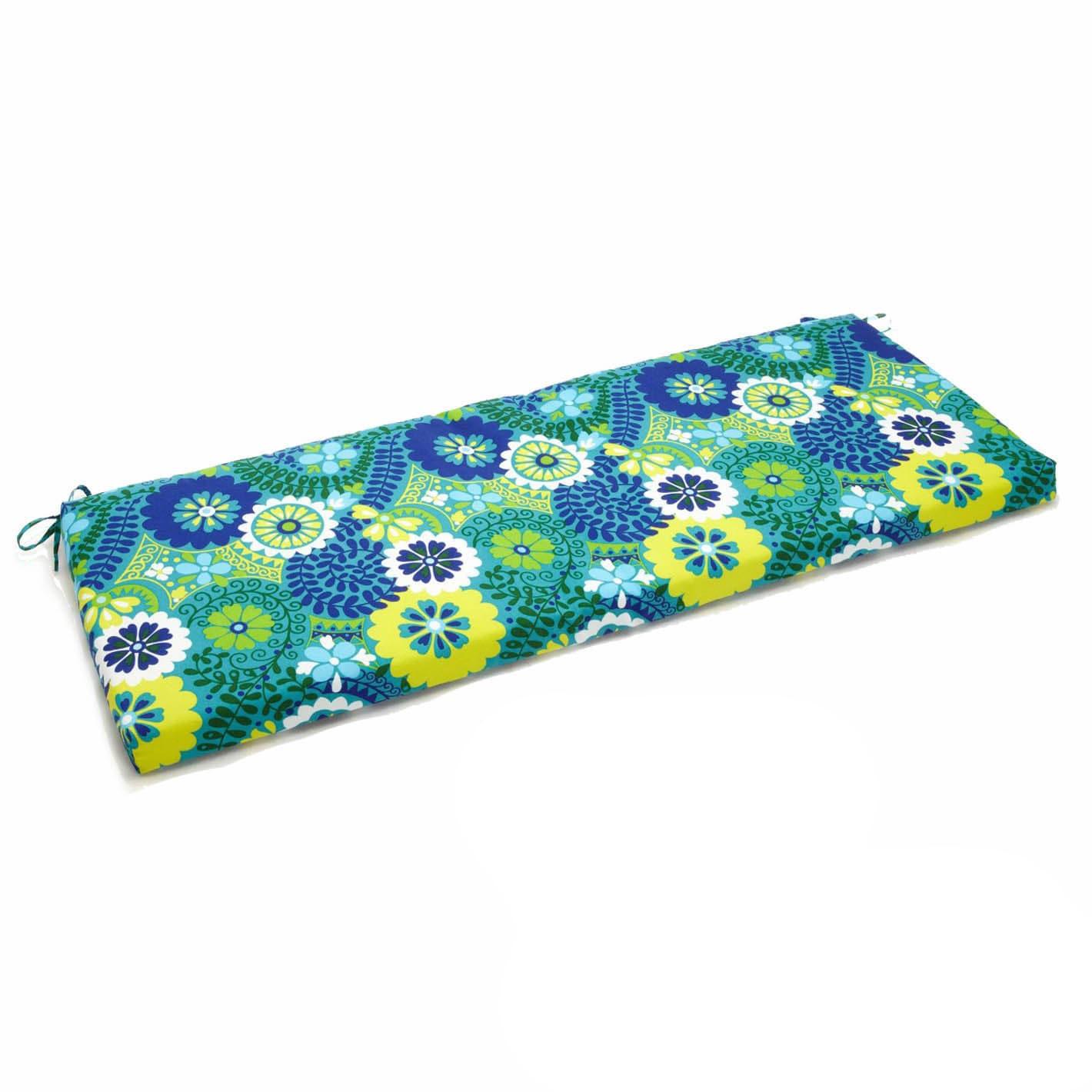 Blazing Needles Designer 48 inch Outdoor Bench Cushion Free