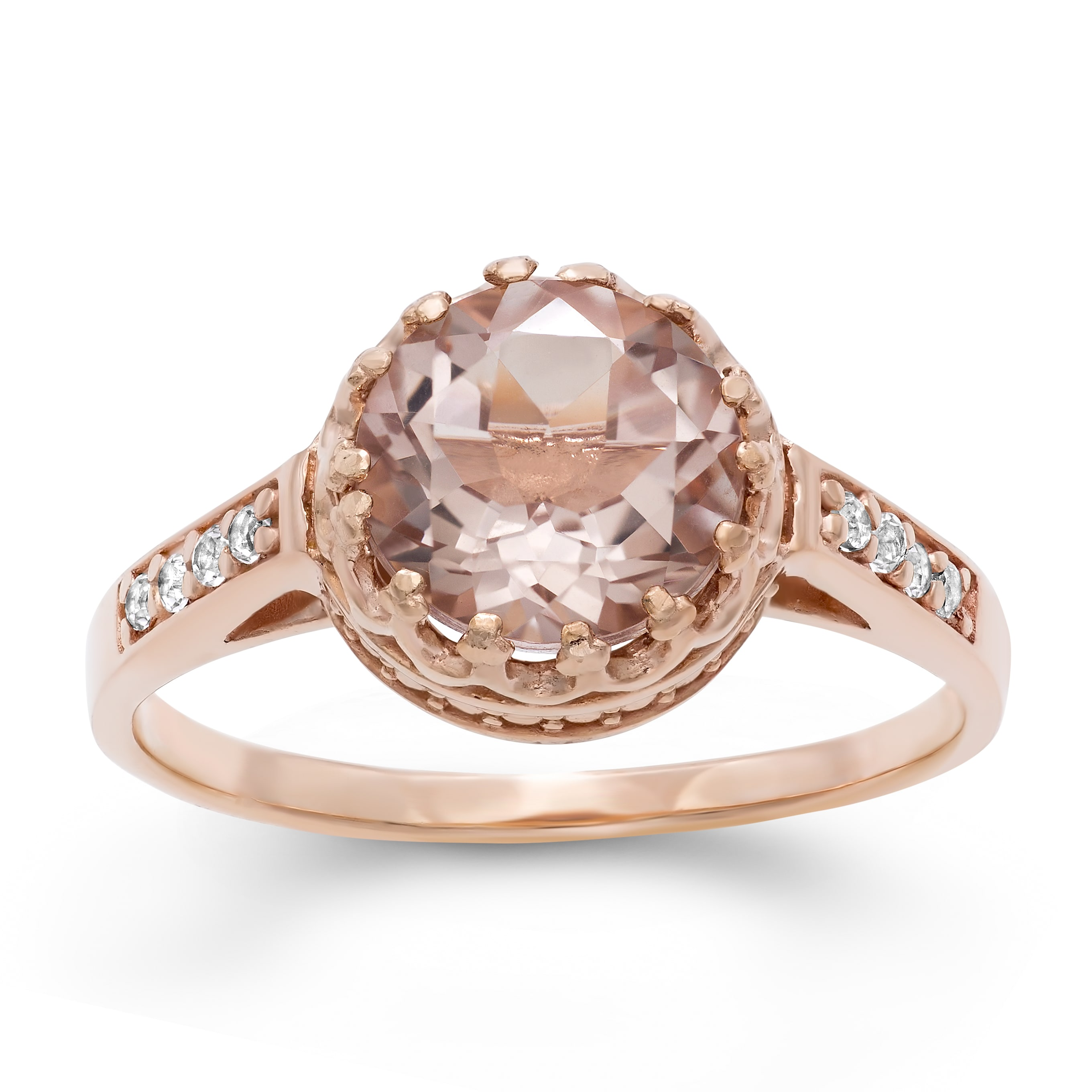 wedding ring fine halo quartz cushion rings garnet diamond broome rose pav cut jewelry product