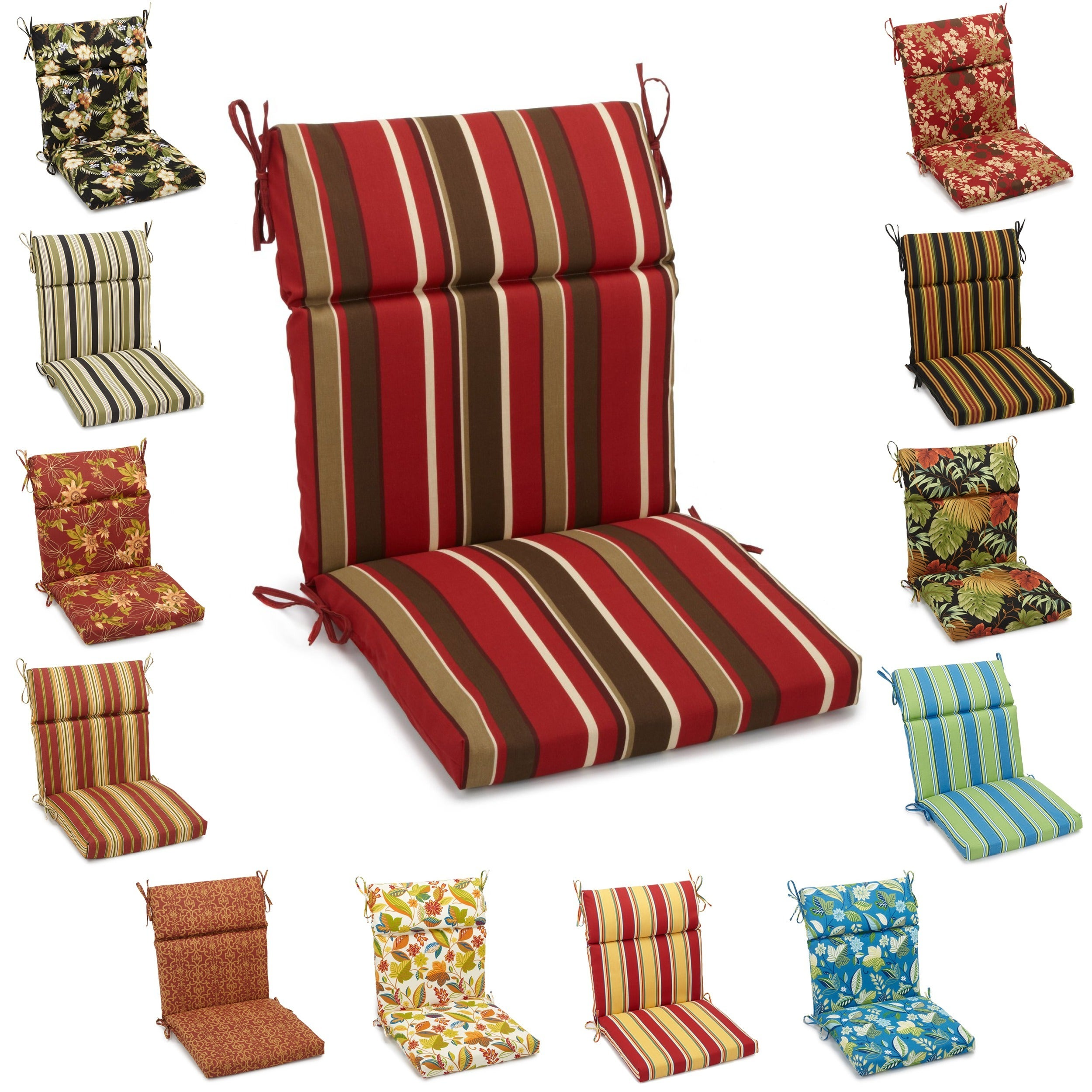 Blazing Needles All Weather Outdoor Patio Chair and Bench Cushion