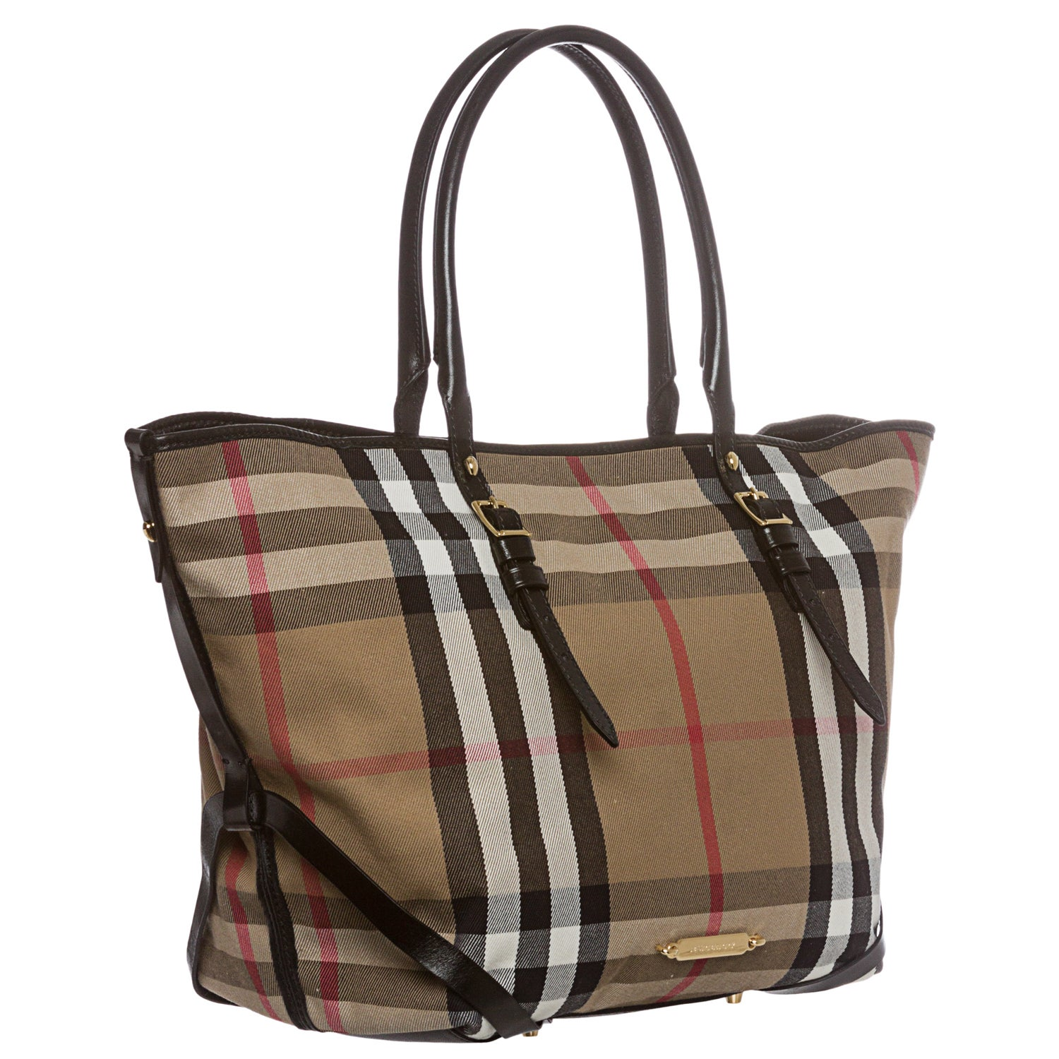 Burberry Medium Bridle House Check Salisbury Tote Free Shipping Today 8366284