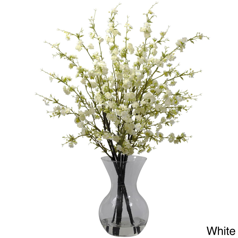 Cherry blossoms and vase floral arrangement free shipping today cherry blossoms and vase floral arrangement free shipping today overstock 15674858 reviewsmspy