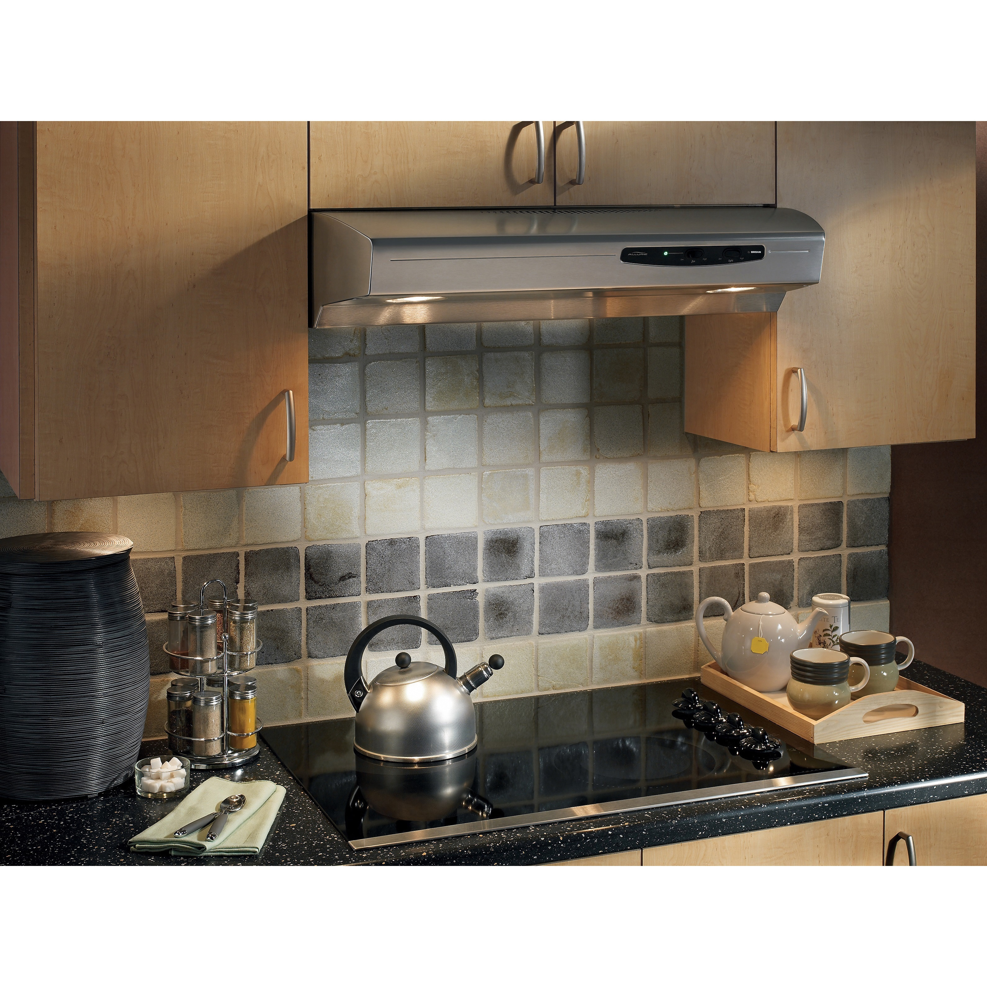 Shop Broan Qs130 Allure Series 30 Inch 220 Cfm Under Cabinet Hood Range Wiring Diagram Free Shipping Today 8368831