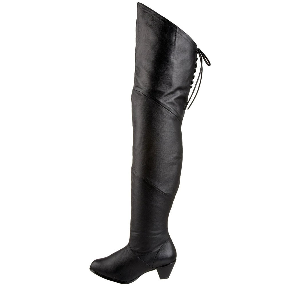 3c7f1744ac03 Shop Pleaser Maiden Women s Pig Leather 2-inch Heel Thigh High Boots - Free  Shipping Today - Overstock - 8368910