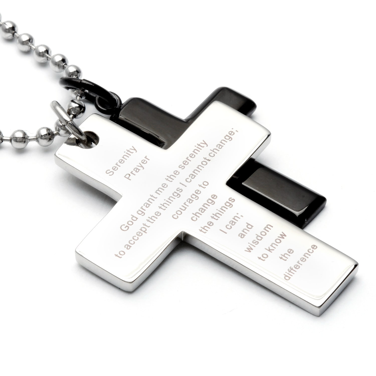 to necklace engravable eve stainless zoom serenity prayer hover steel s pendant tag dog addiction